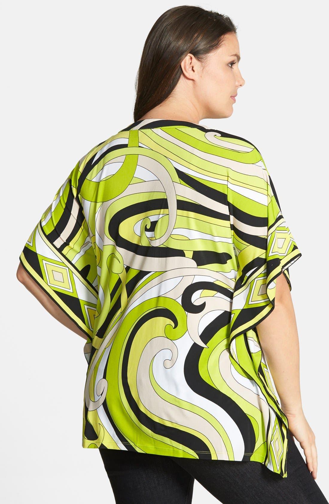 Alternate Image 2  - MICHAEL Michael Kors Print Lace-Up Tunic (Plus Size)
