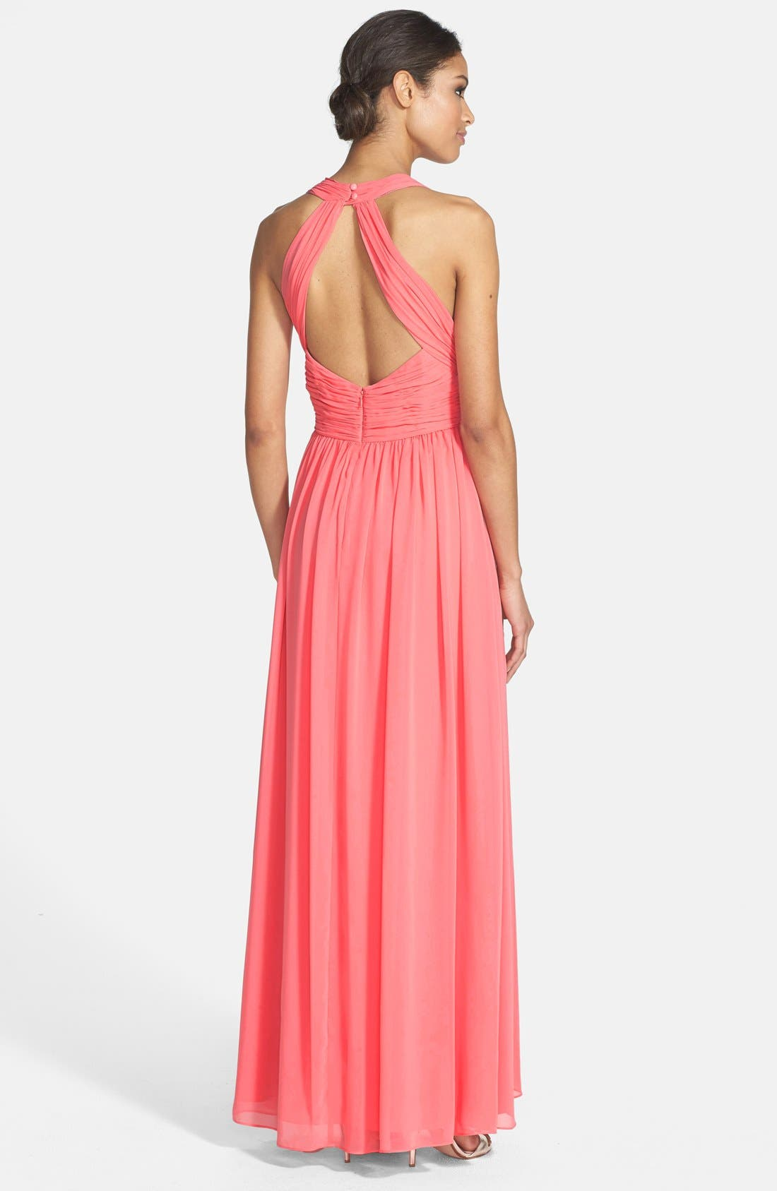 Alternate Image 2  - Eliza J Halter Chiffon Gown