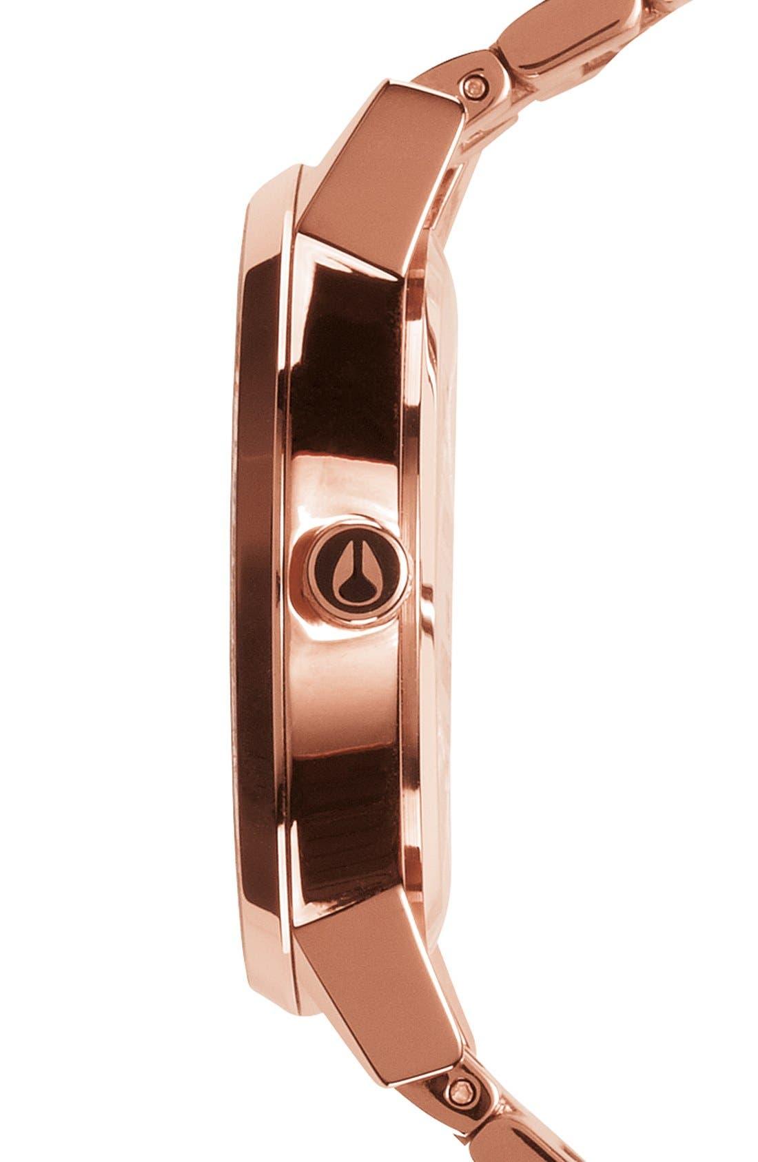 'The Kensington' Round Bracelet Watch, 37mm,                             Alternate thumbnail 3, color,                             Rose Gold