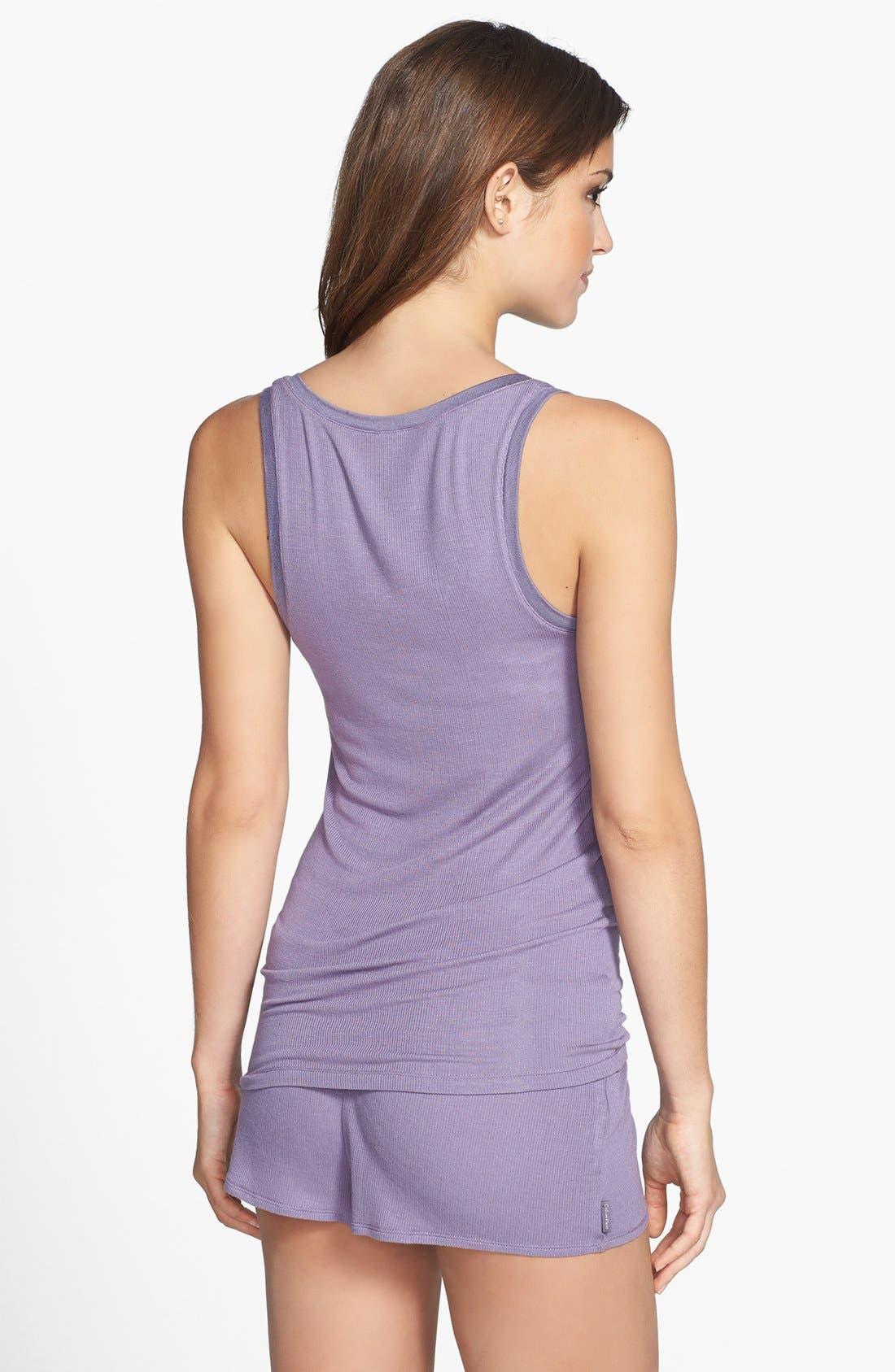 Alternate Image 4  - Calvin Klein V-Neck Modal Blend Pajama Tank
