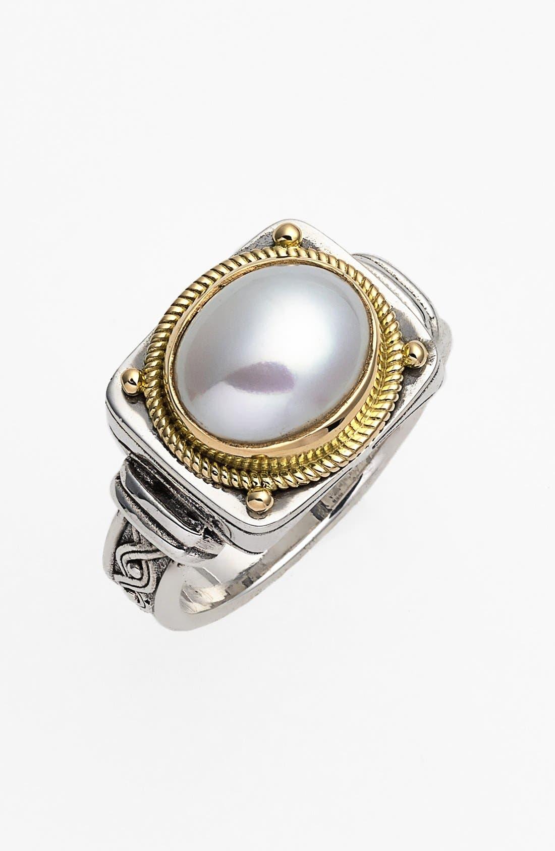 'Classics' Pearl Ring,                             Main thumbnail 1, color,                             Silver/ Gold