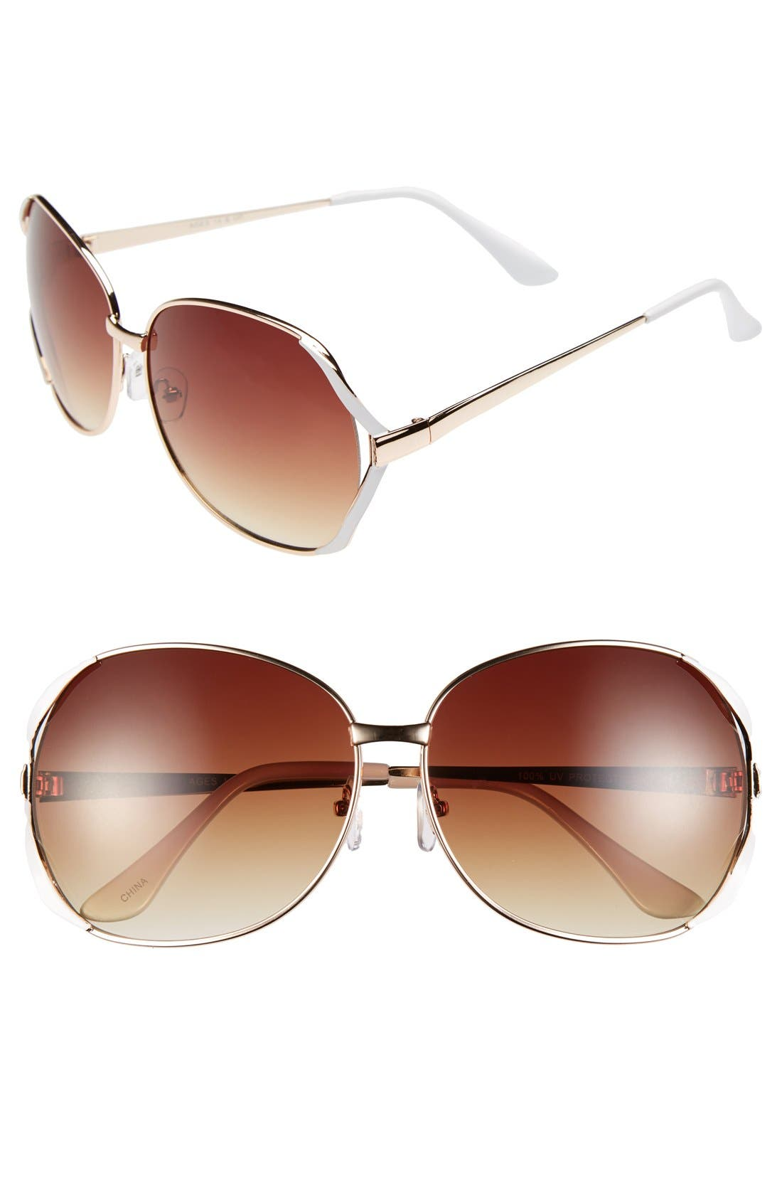 Alternate Image 1 Selected - Fantas Eyes 'San Juan' Aviator Sunglasses (Juniors)