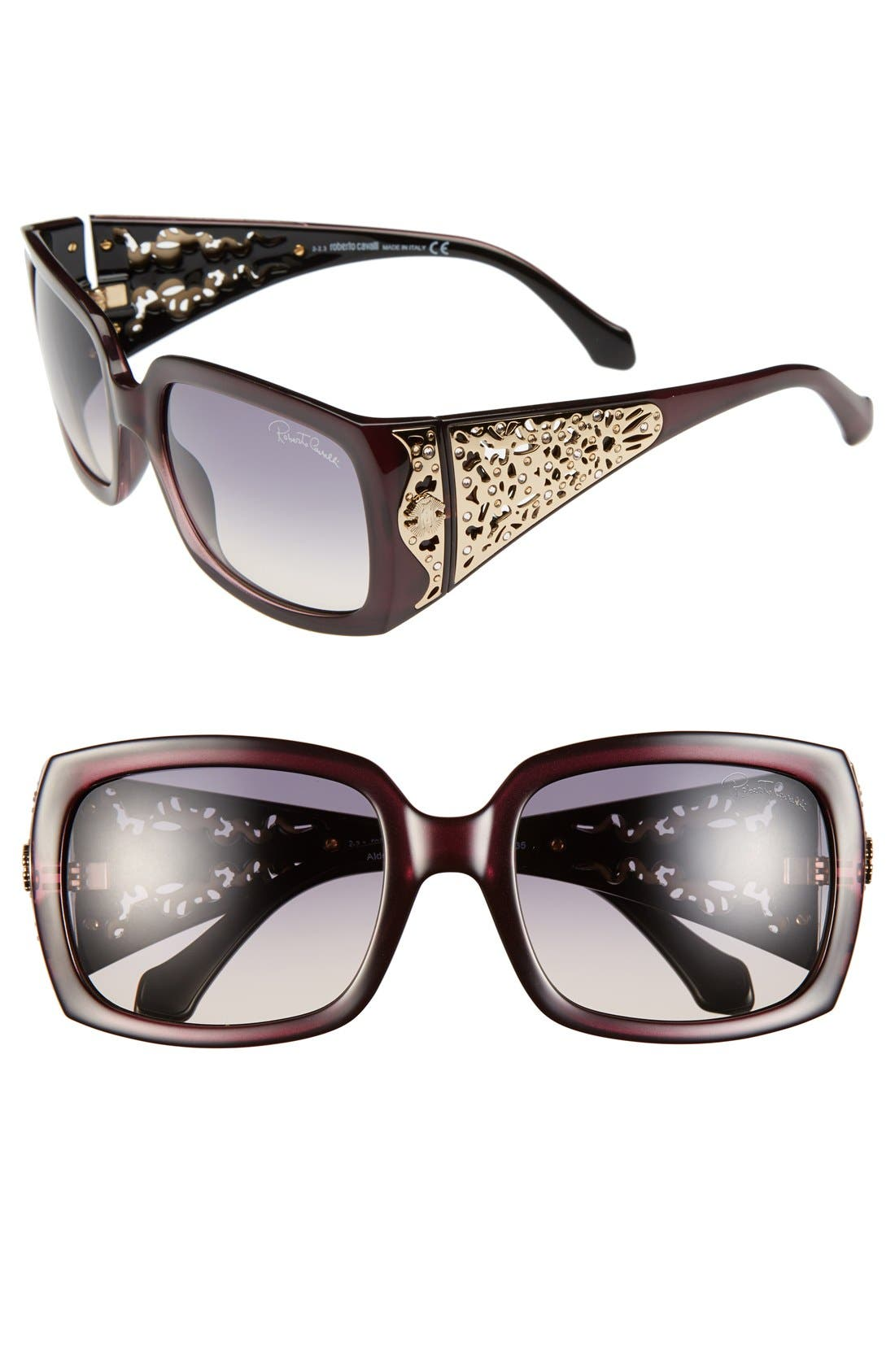 Alternate Image 1 Selected - Roberto Cavalli 'Aldebaran' 59mm Square Sunglasses