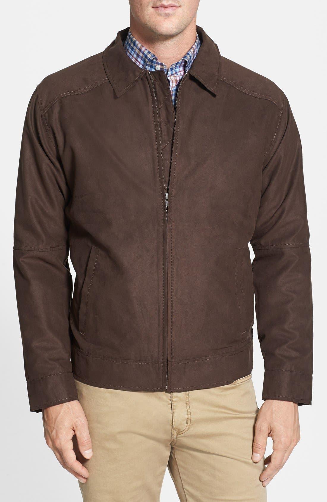 Roosevelt Water Resistant Full Zip Jacket,                         Main,                         color, Bittersweet Brown