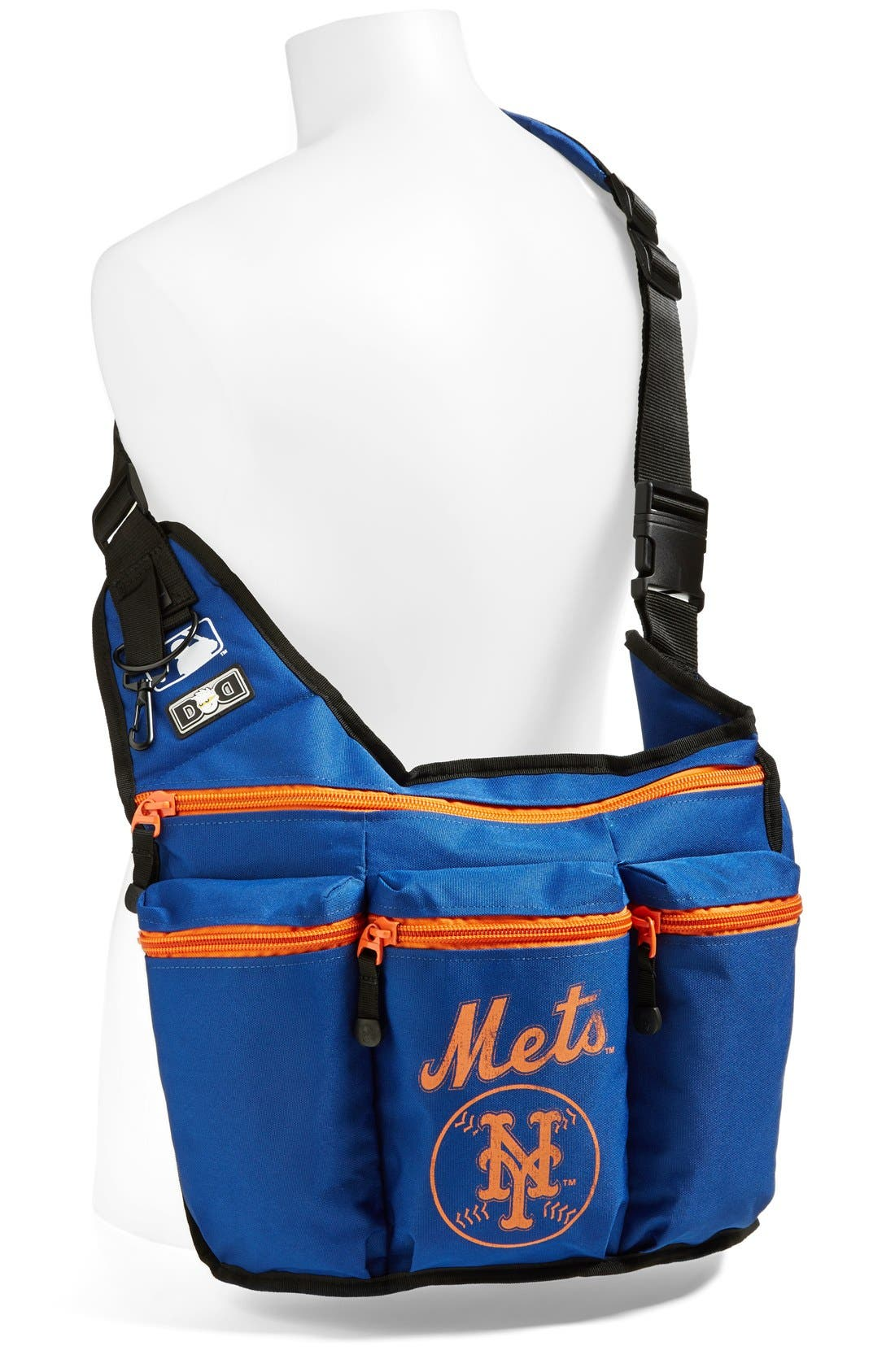 Alternate Image 2  - Diaper Dude 'New York Mets' Messenger Diaper Bag