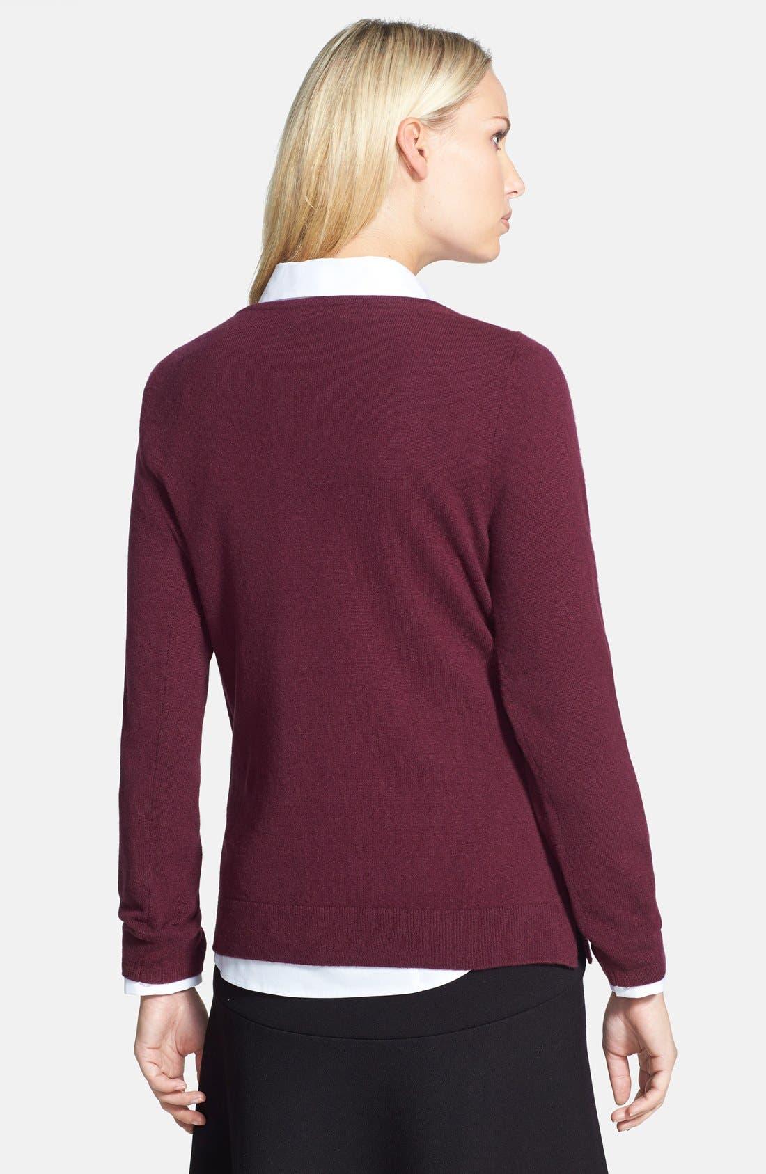 Alternate Image 2  - Nordstrom Collection Ballet Neck Cashmere Sweater