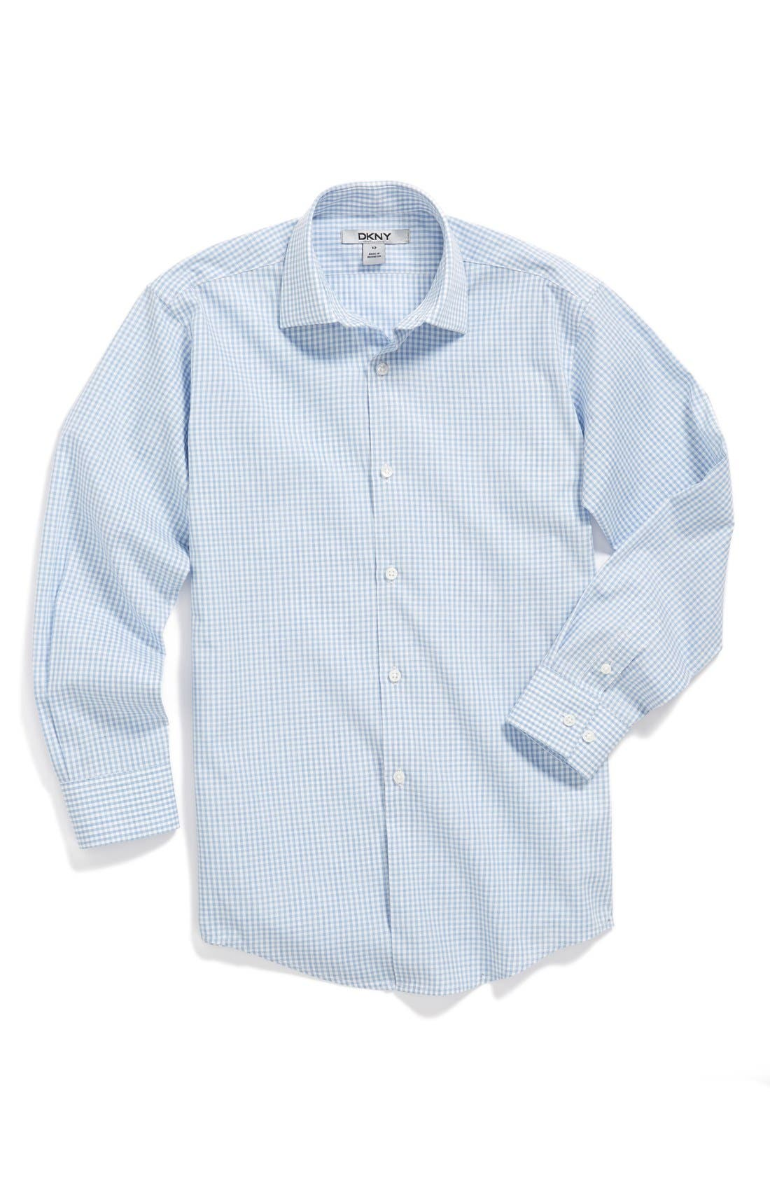 Alternate Image 1 Selected - DKNY Check Dress Shirt (Big Boys)