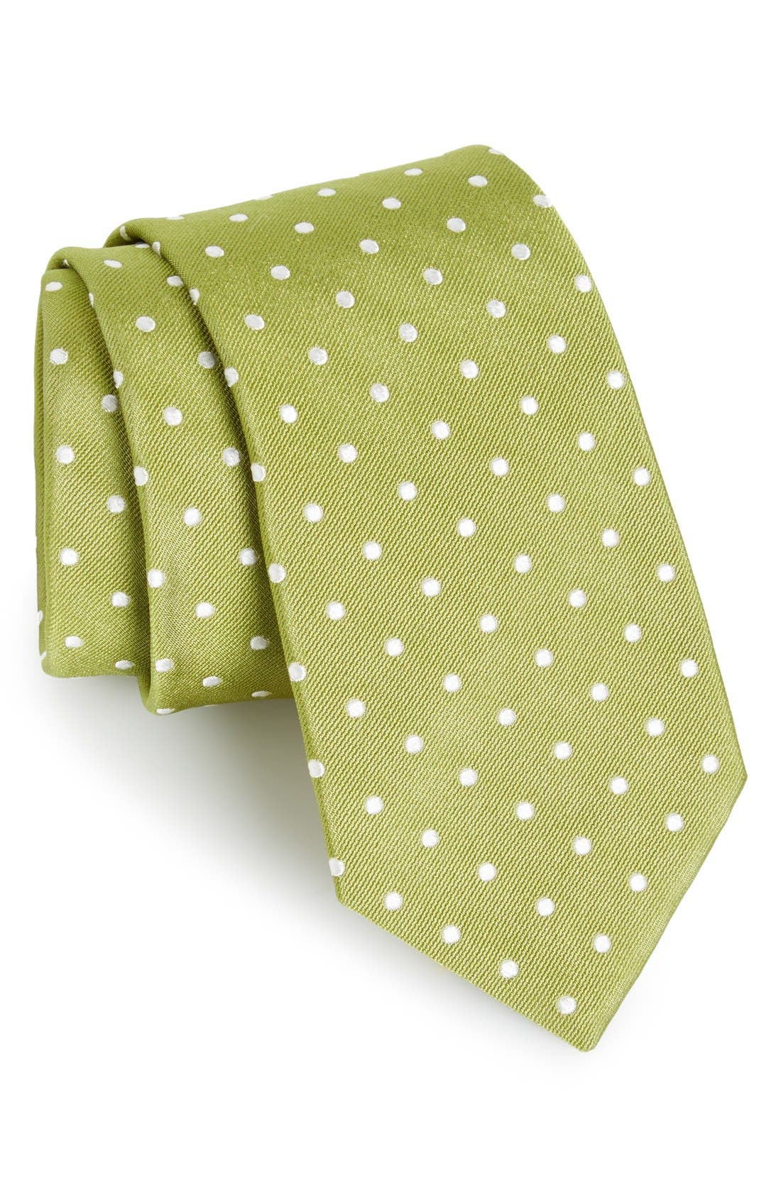 Gitman Polka Dot Silk Tie (X-Long)