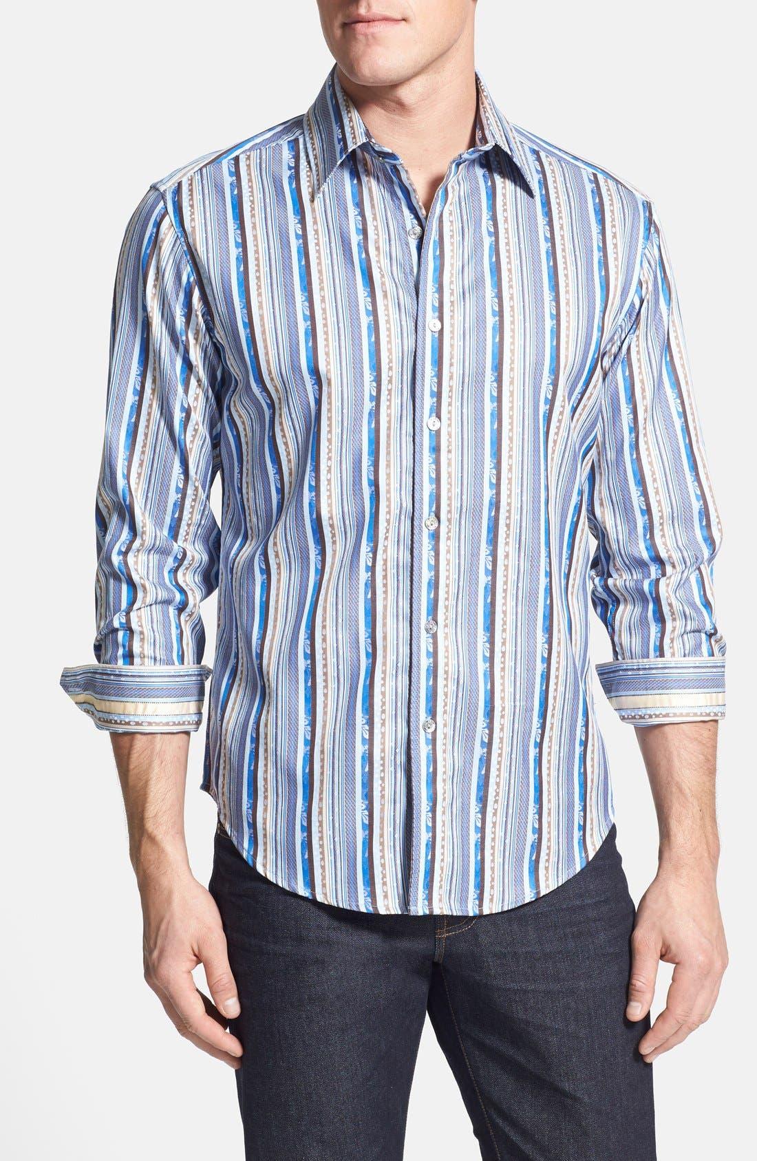 Alternate Image 1 Selected - Robert Graham 'Laurino' Jacquard Sport Shirt