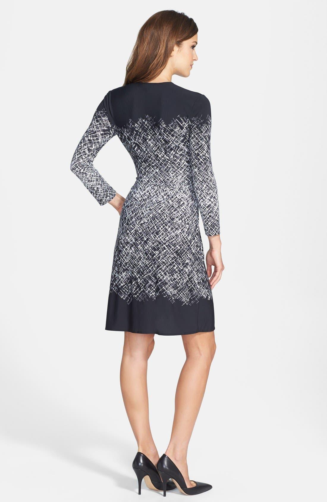Alternate Image 2  - BCBGMAXAZRIA Engineered Print Matte Jersey Wrap Dress