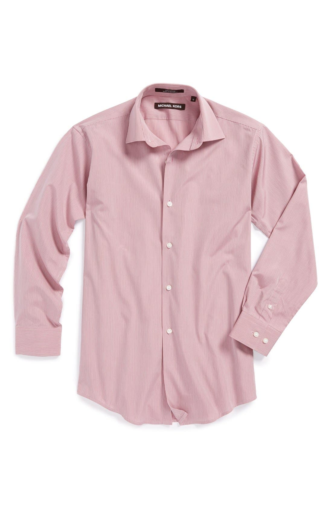 Main Image - Michael Kors Stripe Dress Shirt (Big Boys)