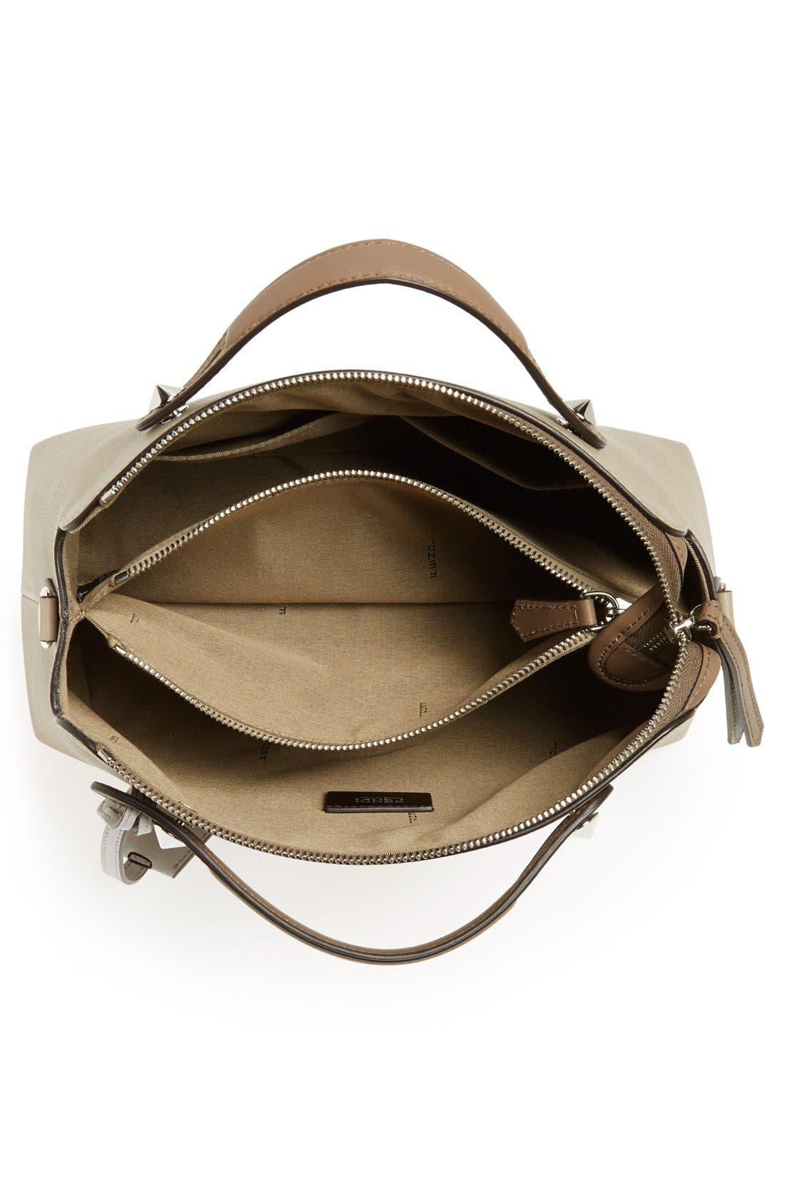 'Bauletto Piccolo' Leather Crossbody Bag,                             Alternate thumbnail 3, color,                             Turtledv Sepia Palladuim