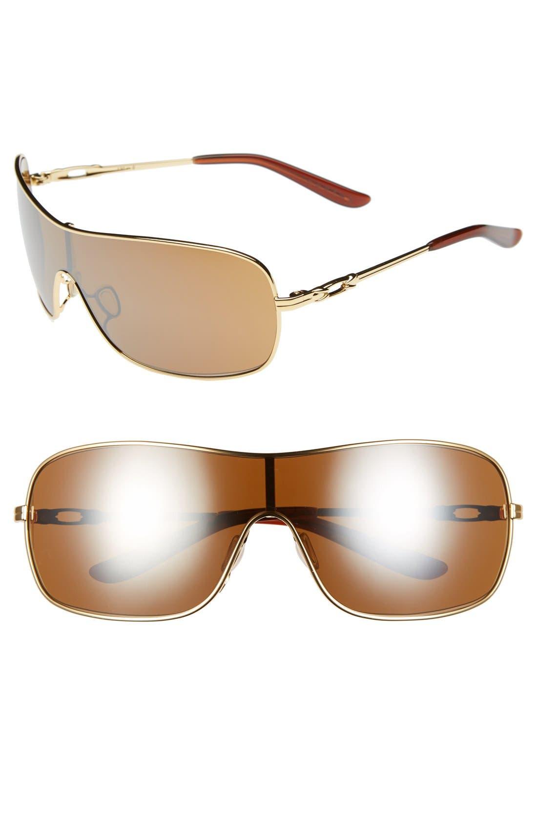 Alternate Image 1 Selected - Oakley 'Distress' 150mm Polarized Shield Sunglasses