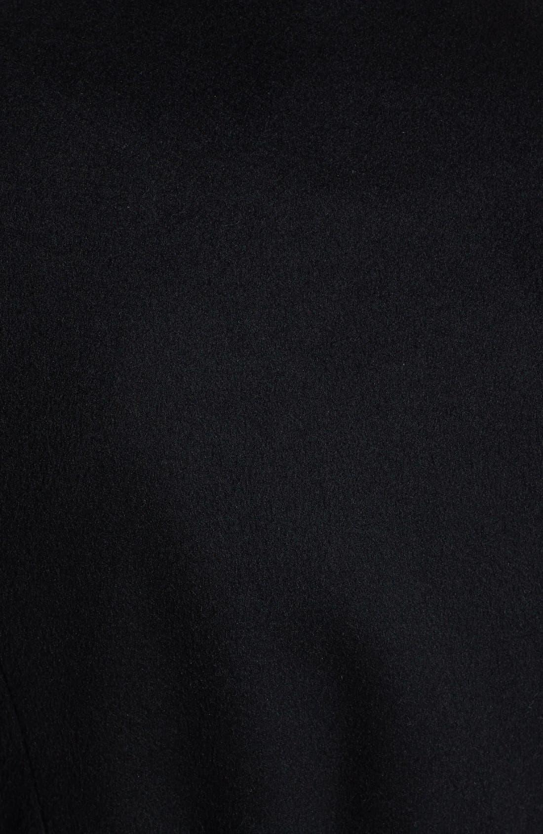 Belted Skirted Wool Blend Coat,                             Alternate thumbnail 3, color,                             Black