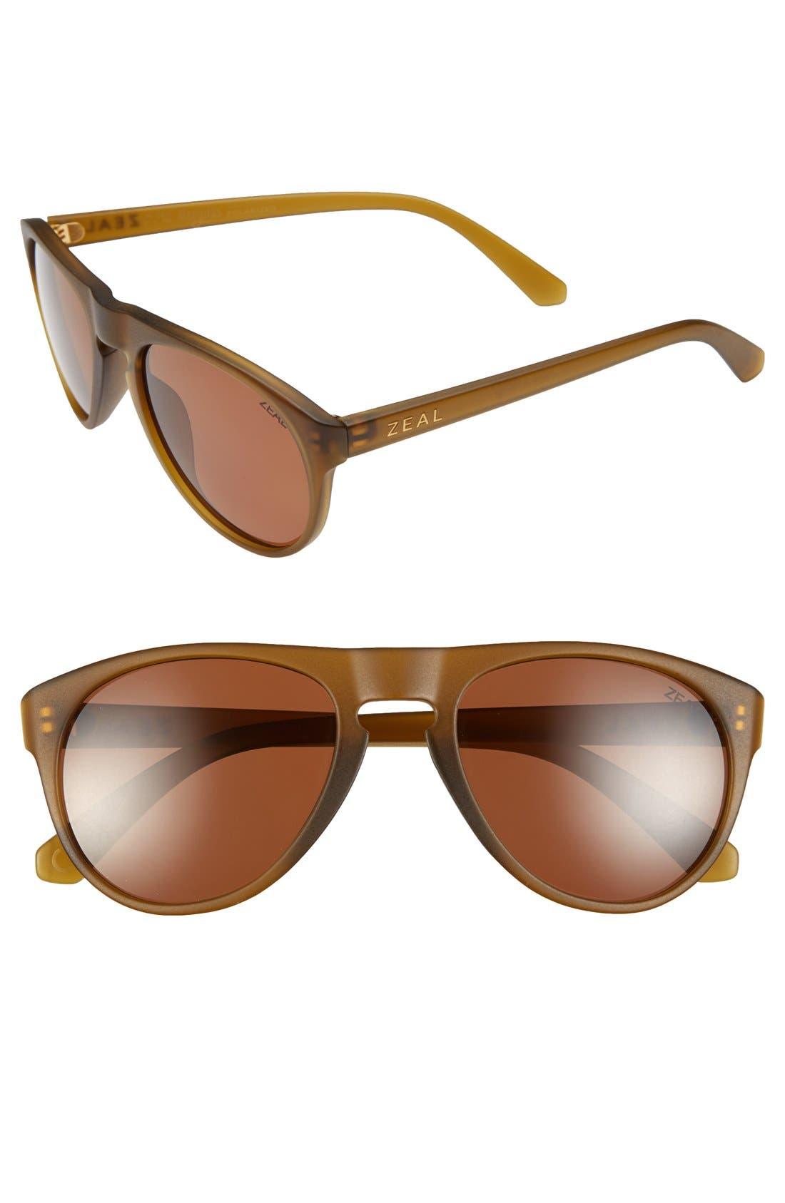 Alternate Image 1 Selected - Zeal Optics 'Memphis' 53mm Polarized Plant Based Sunglasses