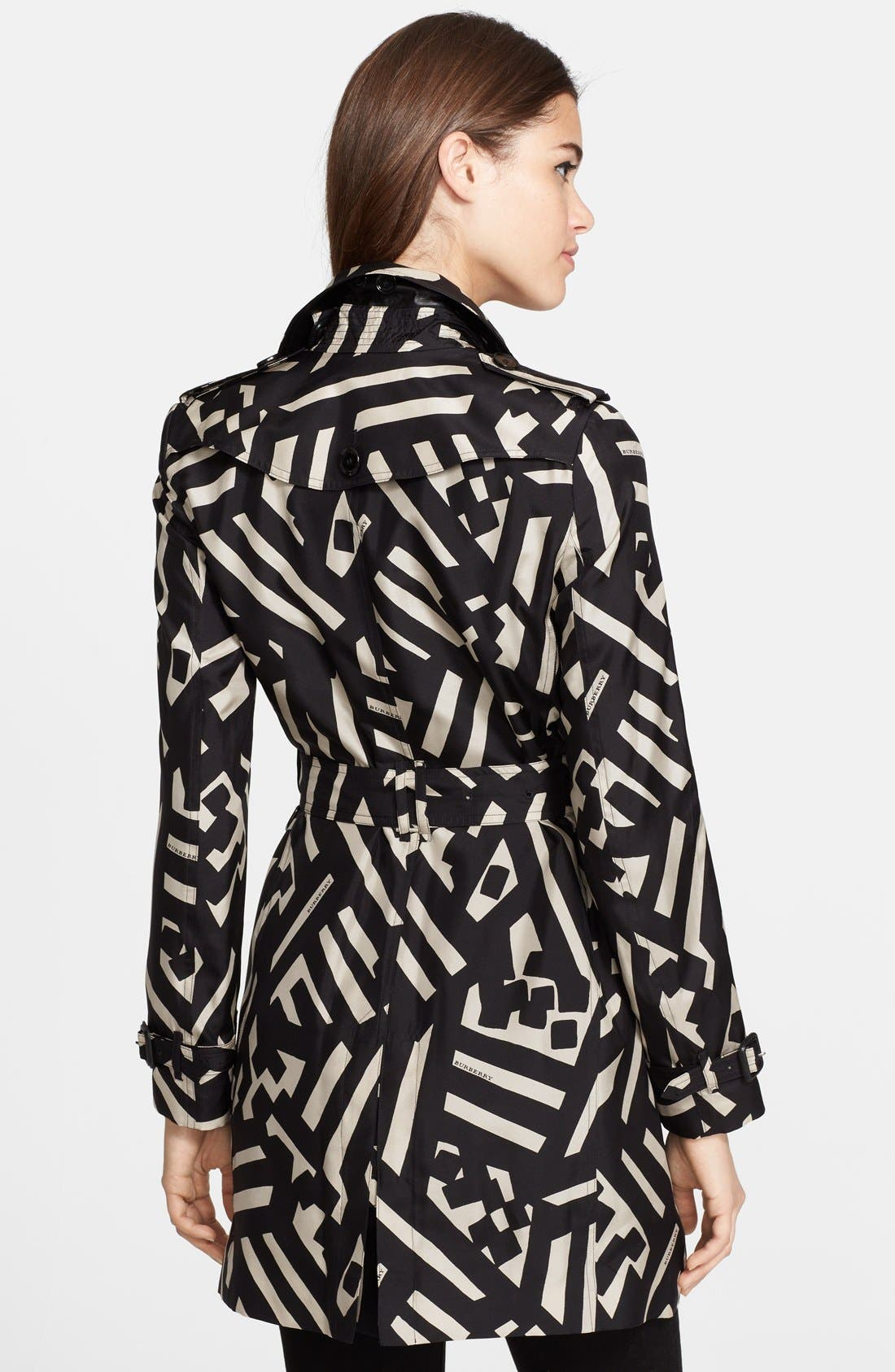 Alternate Image 2  - Burberry London Double Breasted Silk Trench Coat
