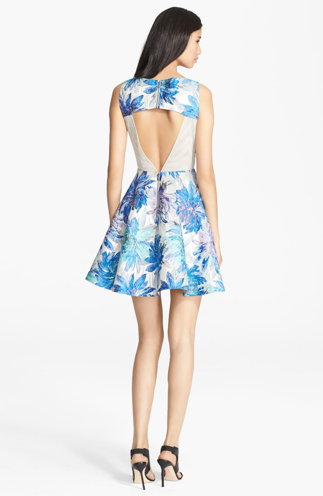 Alternate Image 2  - Alice + Olivia 'Foss' Cutout Back Fit & Flare Dress