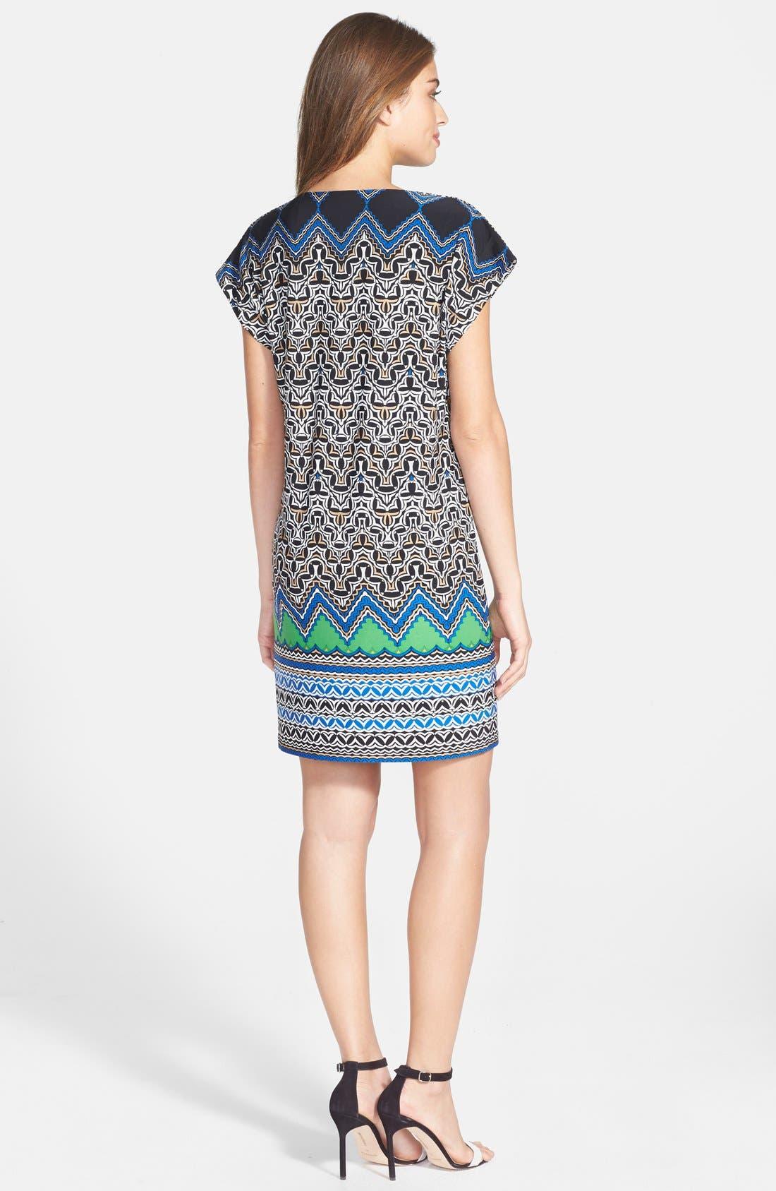 Alternate Image 2  - Laundry by Shelli Segal Print Jersey Shift Dress
