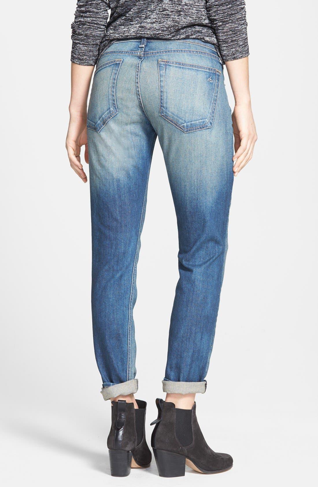 Alternate Image 2  - rag & bone/JEAN 'The Dre' Slim Fit Boyfriend Jeans (Golden) (Nordstrom Exclusive)