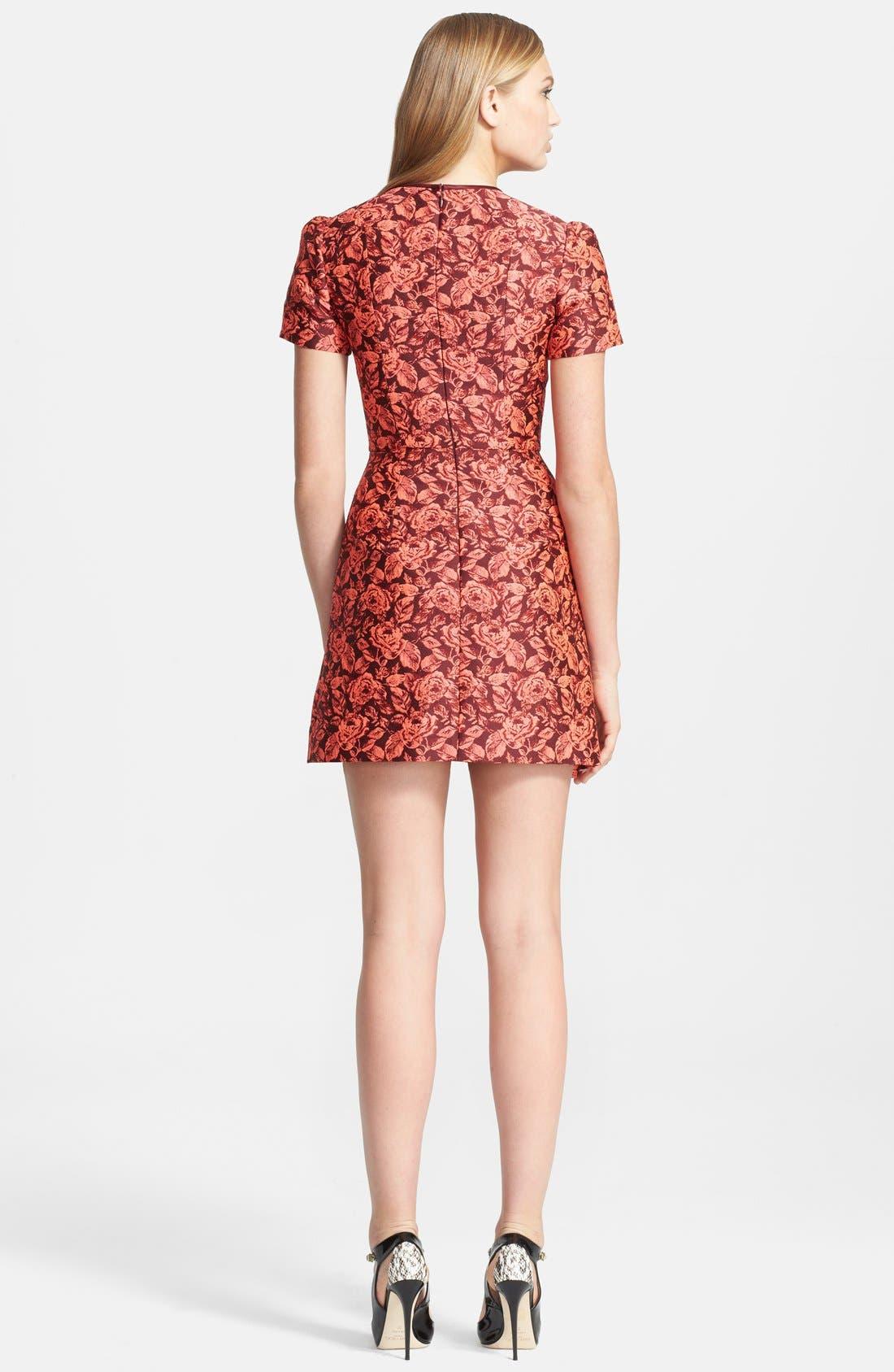 Alternate Image 2  - Erdem Fitted Neon Floral Jacquard Dress