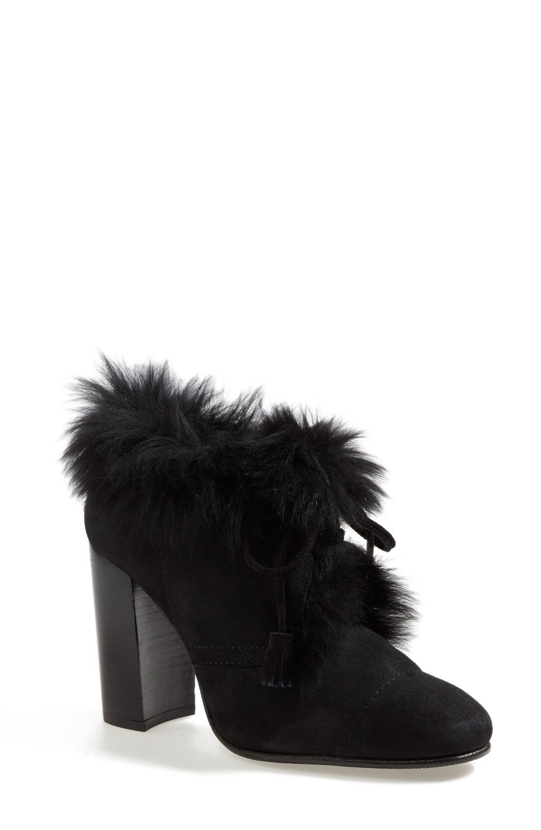Alternate Image 1 Selected - Pedro Garcia 'Barbara' Genuine Shearling & Leather Bootie (Women)