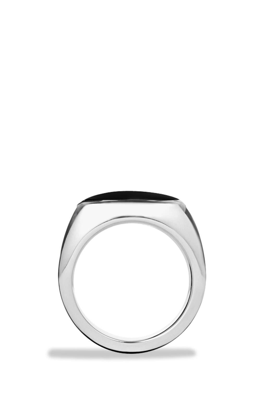 'Royal Cord' Knife Edge Signet Ring with Black Onyx,                             Alternate thumbnail 2, color,                             Black Onyx