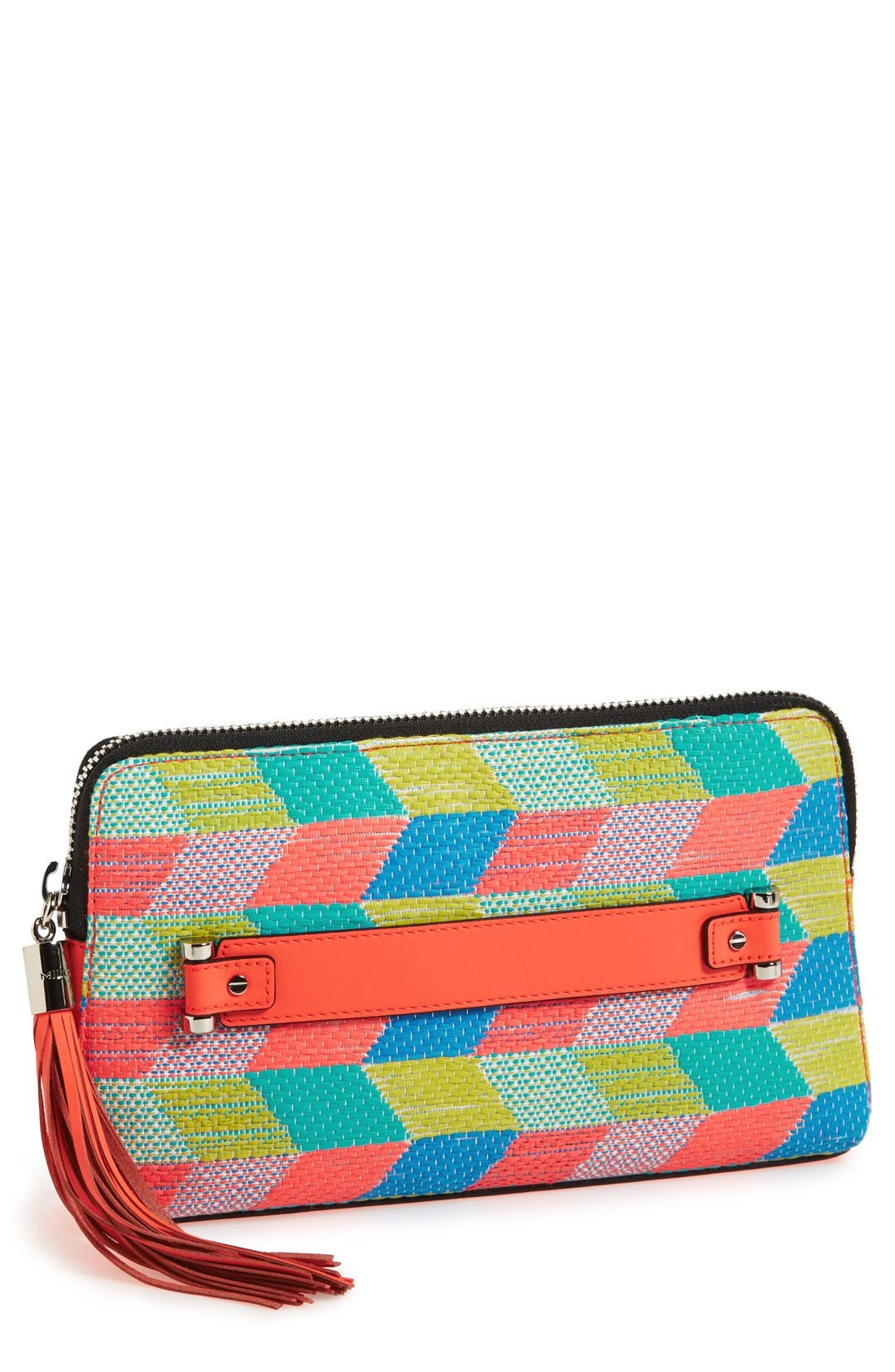 Main Image - Milly Neon Tweed Clutch