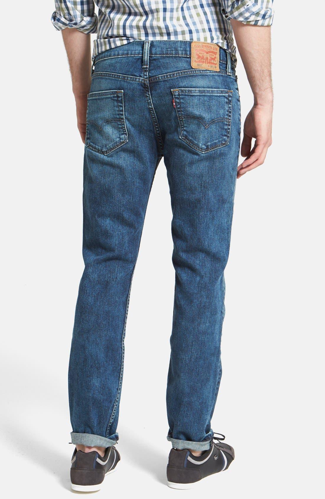 Alternate Image 2  - Levi's® '511™' Slim Fit Jeans (Blue Foam)