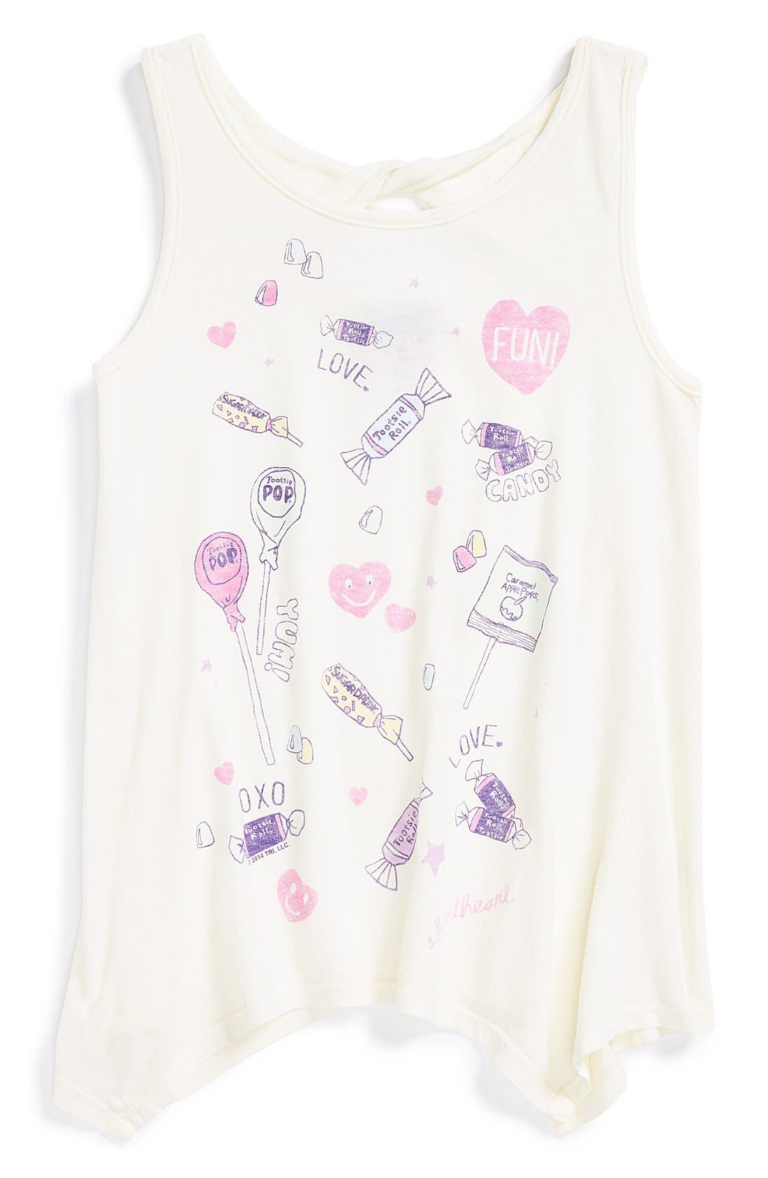 Alternate Image 1 Selected - Junk Food 'Daydreamer - Candy' Tank (Little Girls)