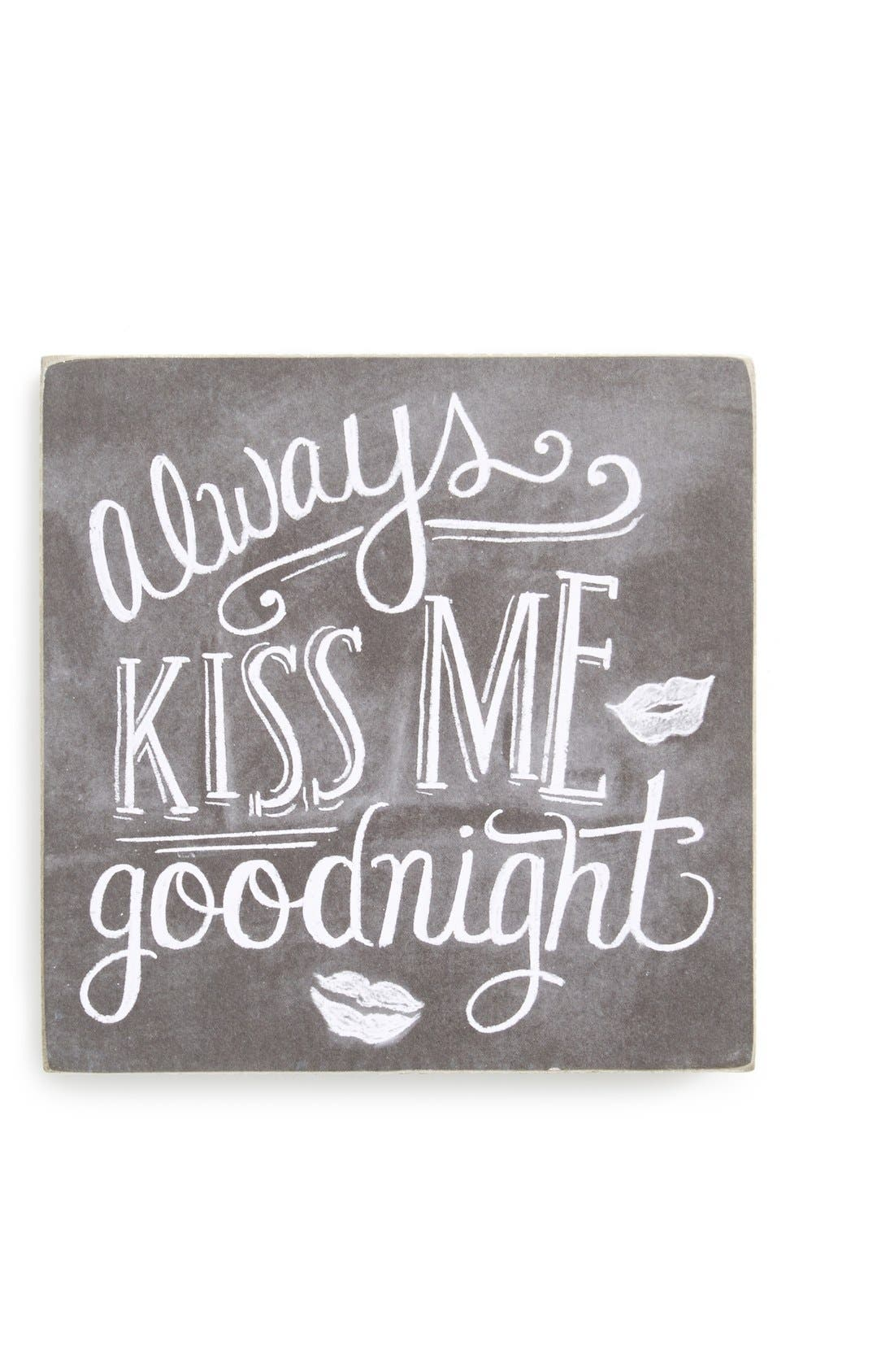 Main Image - Primitives by Kathy 'Always Kiss Me Goodnight' Box Sign