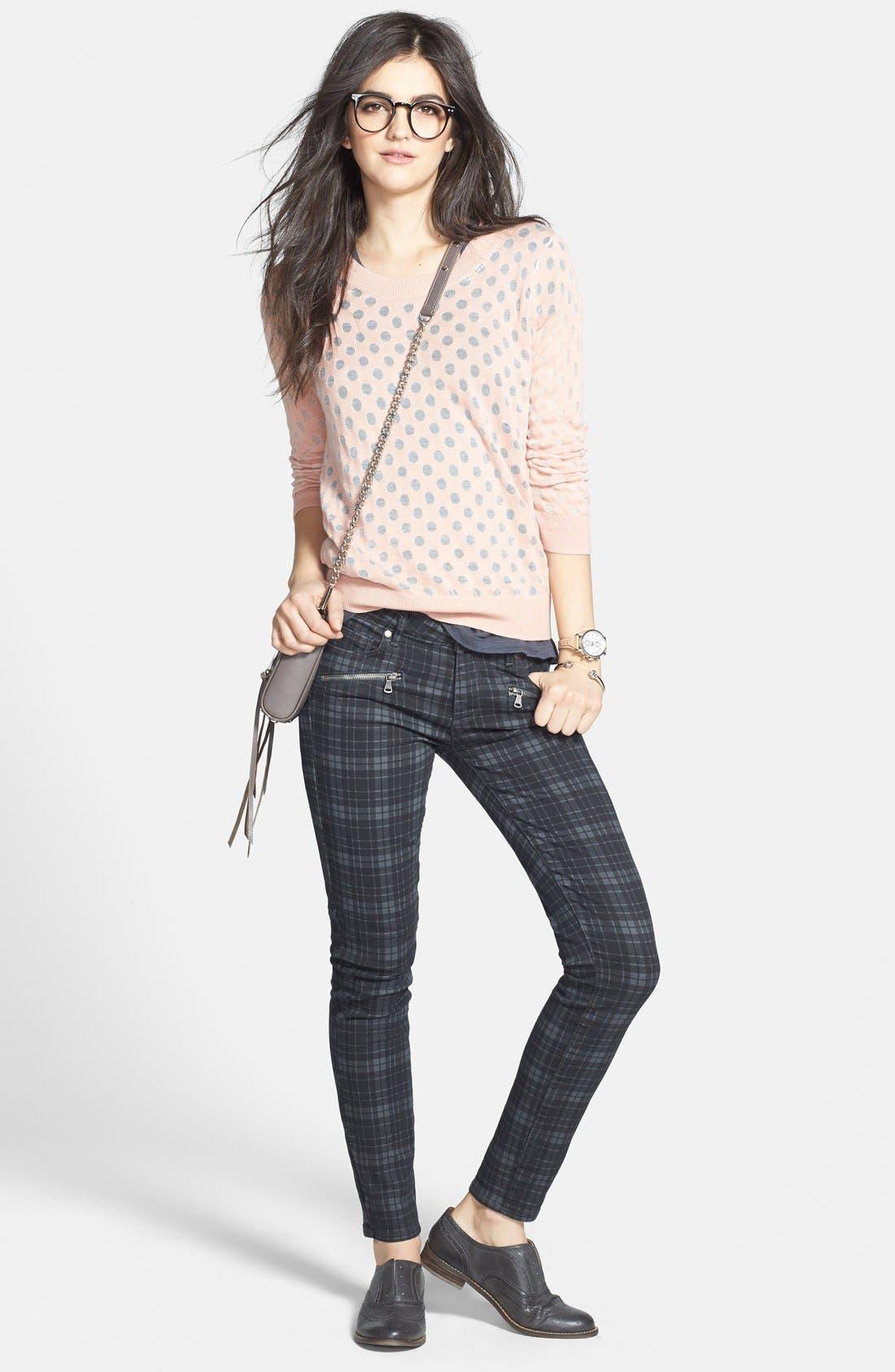 Alternate Image 4  - Hinge® Burnout Dot Sweater