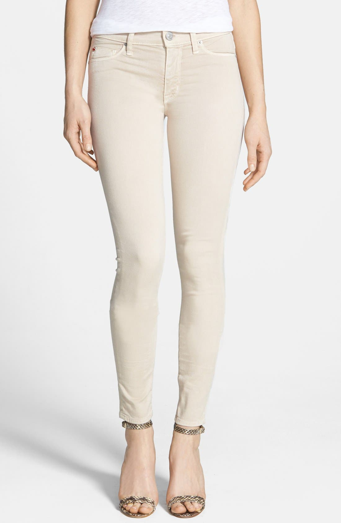 Main Image - Hudson Jeans Mid Rise Skinny Jeans (Wood Ash)