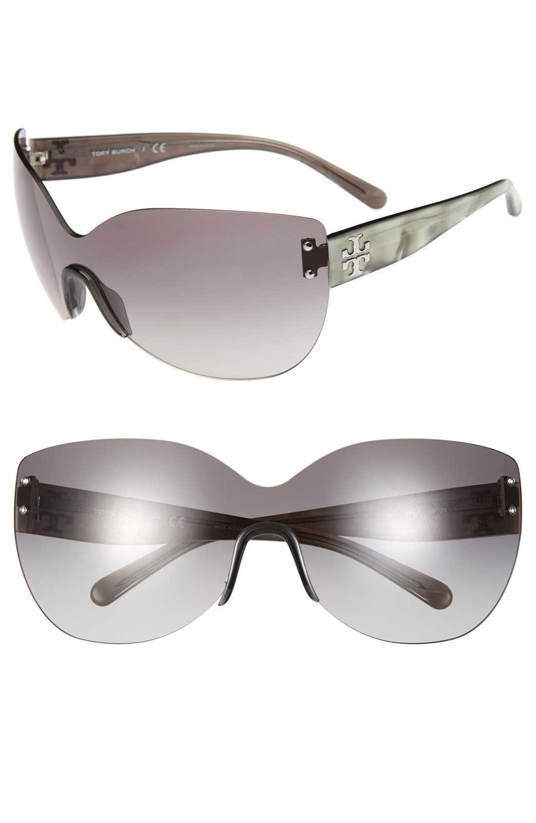 Main Image - Tory Burch 'Pilot' 70mm Wrap Sunglasses