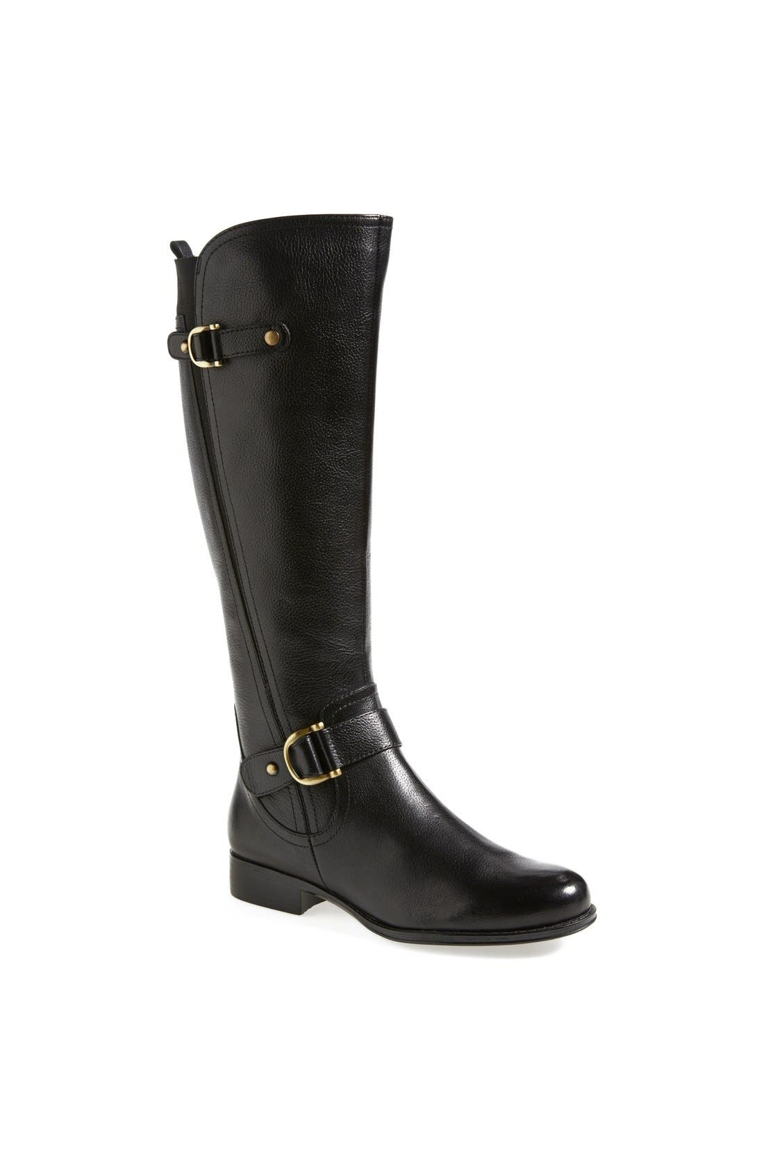 Main Image - Naturalizer 'Jersey' Leather Riding Boot (Wide Calf) (Women)