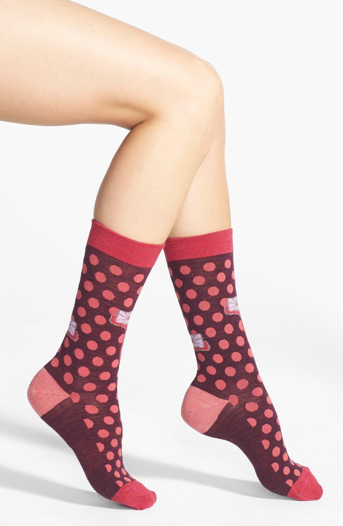Alternate Image 1 Selected - Smartwool 'Dancing Dots' Merino Wool Blend Crew Socks