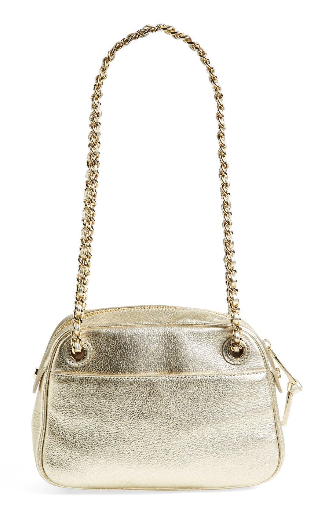 Alternate Image 4  - Tory Burch 'Thea' Metallic Leather Crossbody Bag