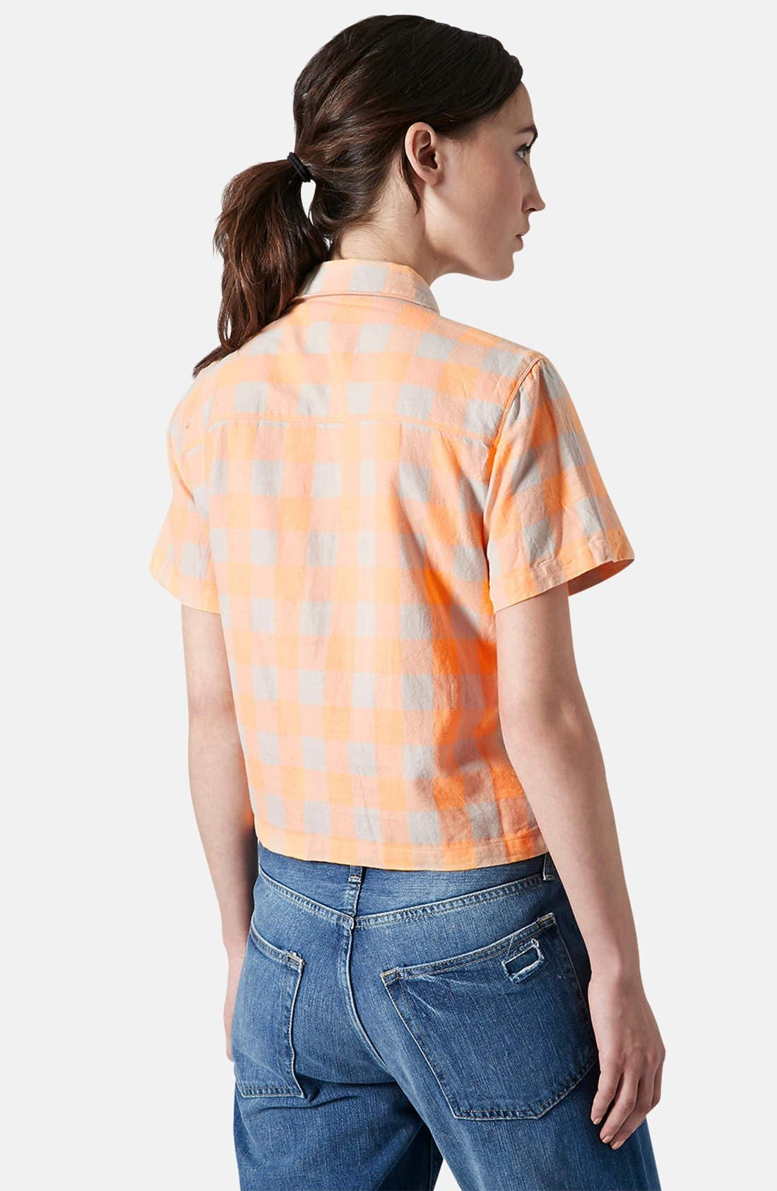 Alternate Image 2  - Topshop 'Amy' Check Short Sleeve Shirt