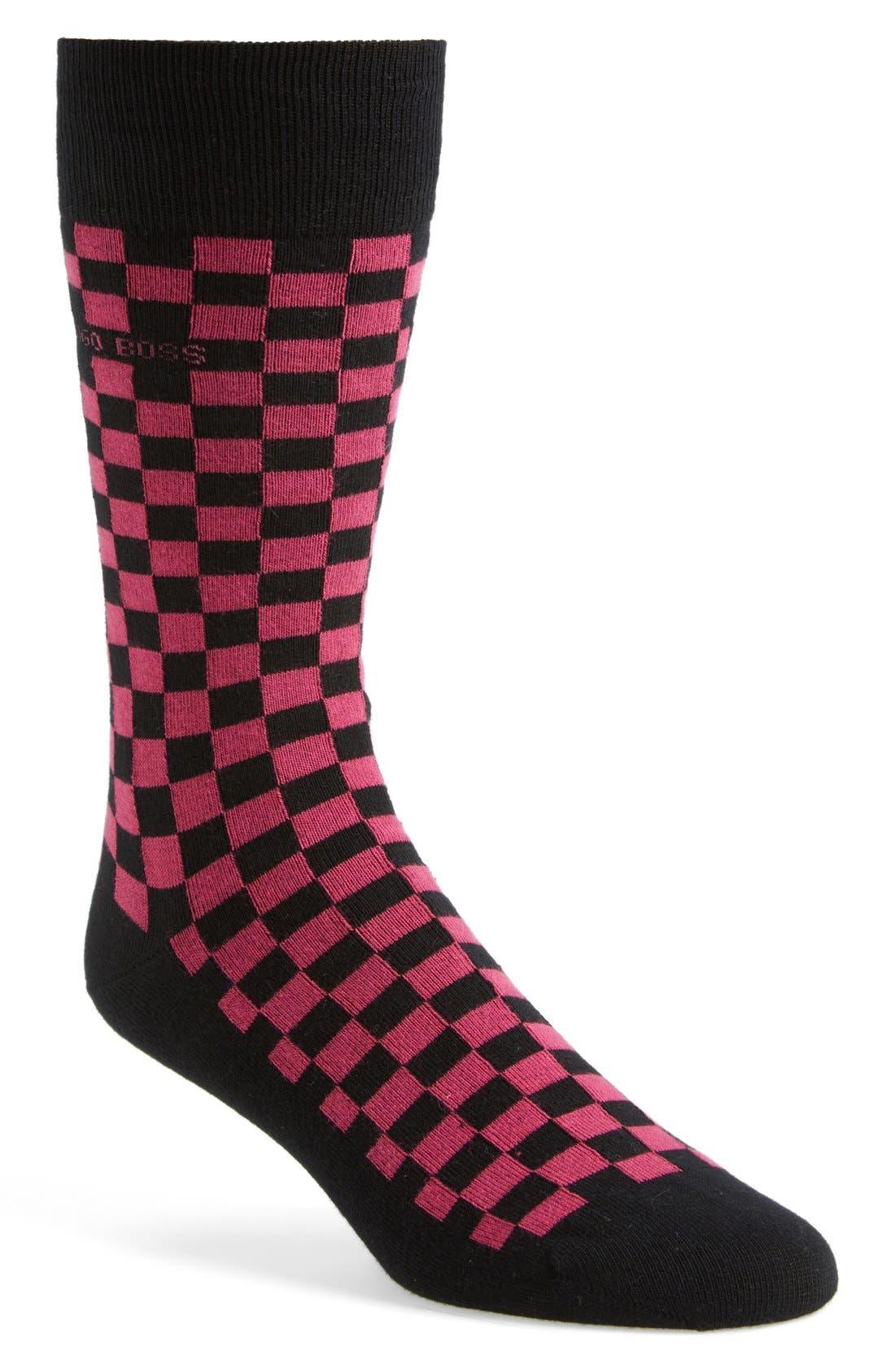 Alternate Image 1 Selected - BOSS HUGO BOSS Check Socks