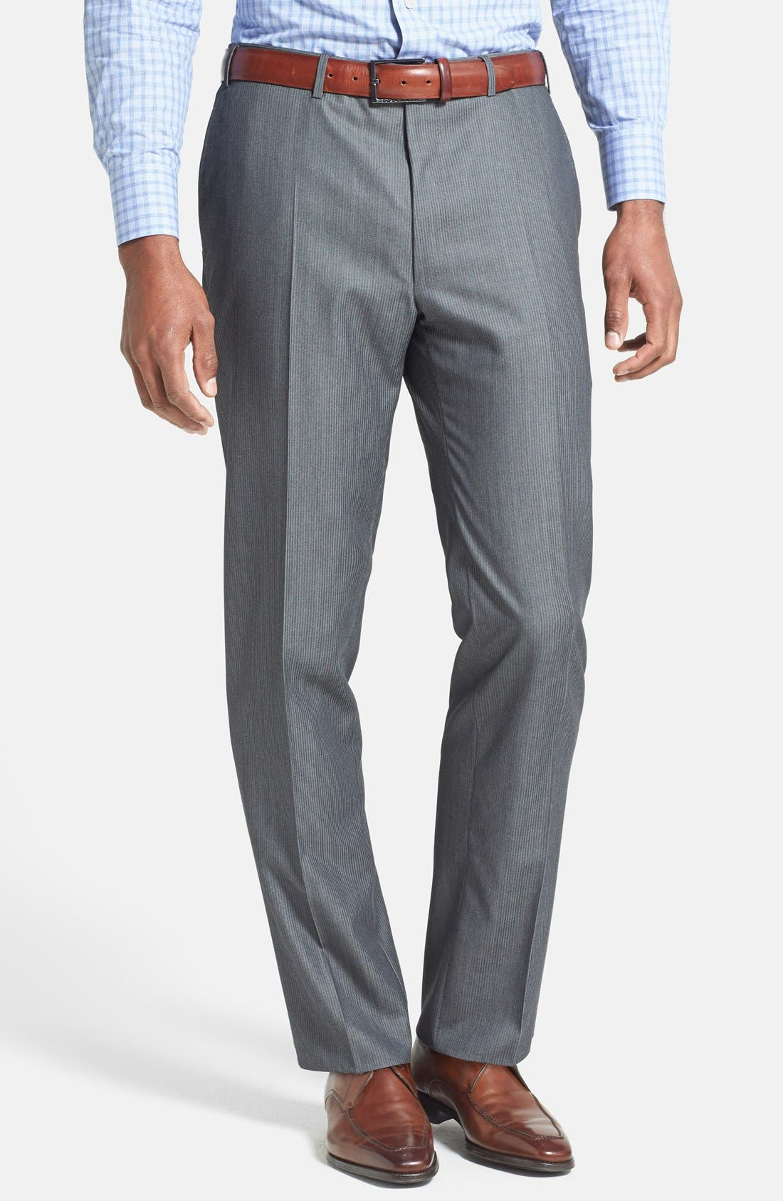Alternate Image 4  - Canali Classic Fit Herringbone Suit