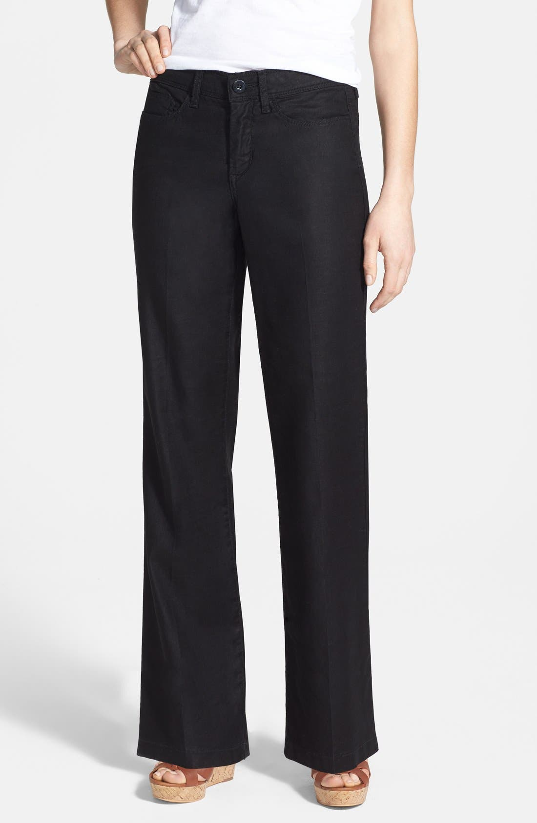 NYDJ Wylie Five-Pocket Linen Trousers (Regular & Petite)