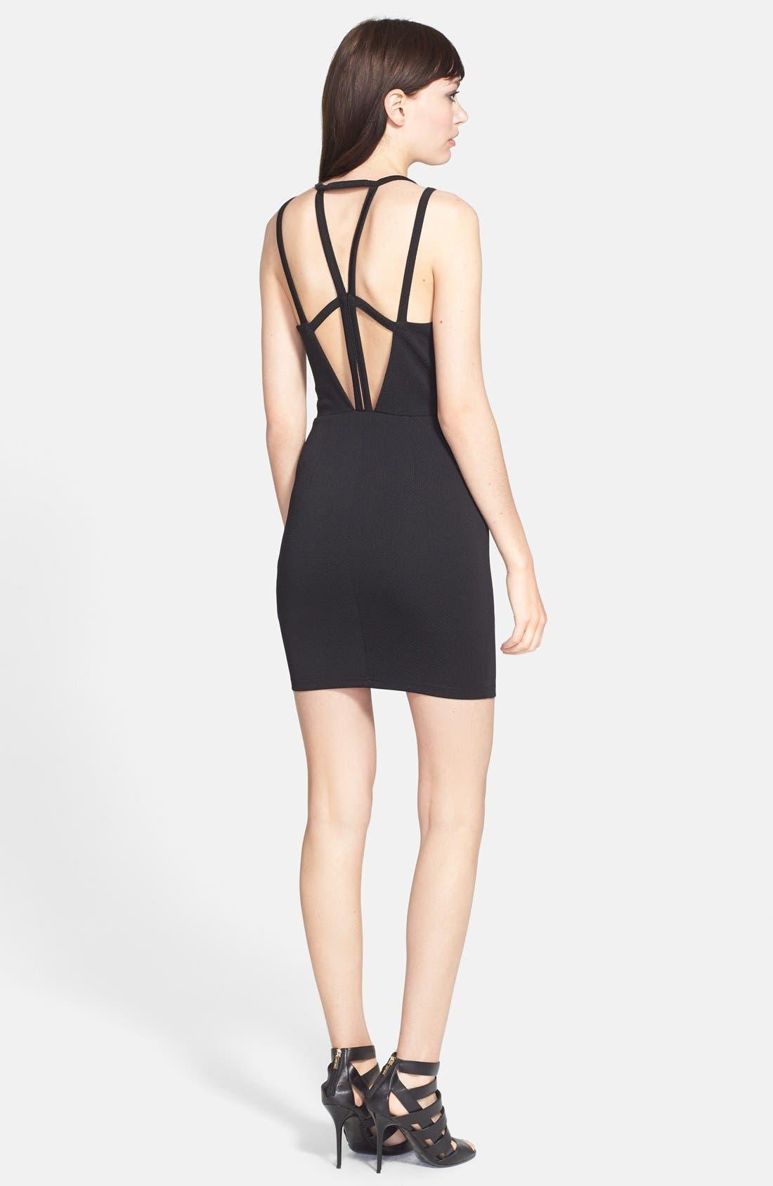 Alternate Image 2  - ASTR Textured Body-Con Dress
