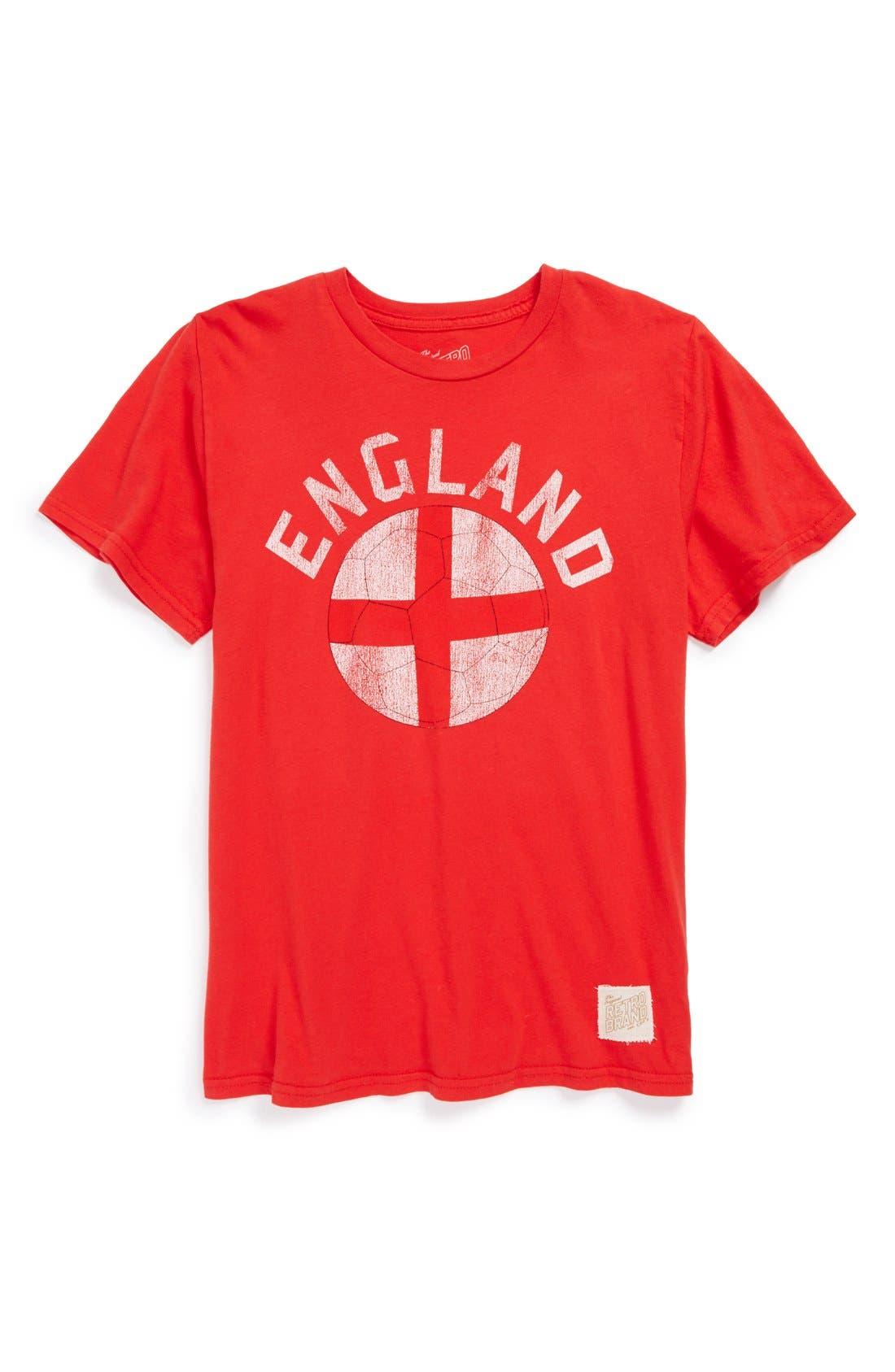 Main Image - Retro Brand 'England Soccer' Graphic T-Shirt (Big Boys)