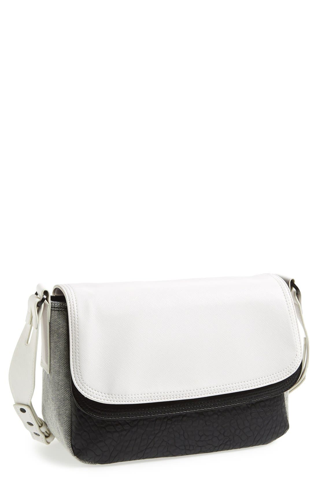 Alternate Image 1 Selected - French Connection Faux Leather Crossbody Bag