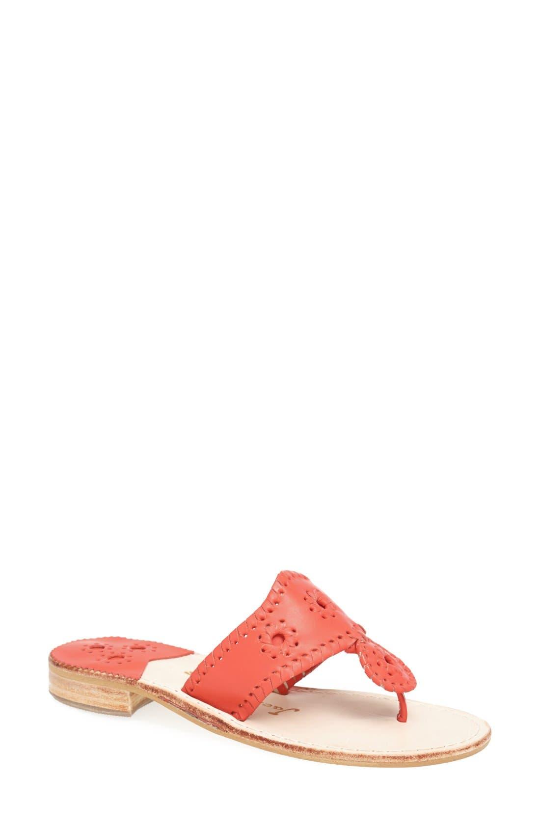 Alternate Image 1 Selected - Jack Rogers 'Nantucket' Leather Sandal (Women)