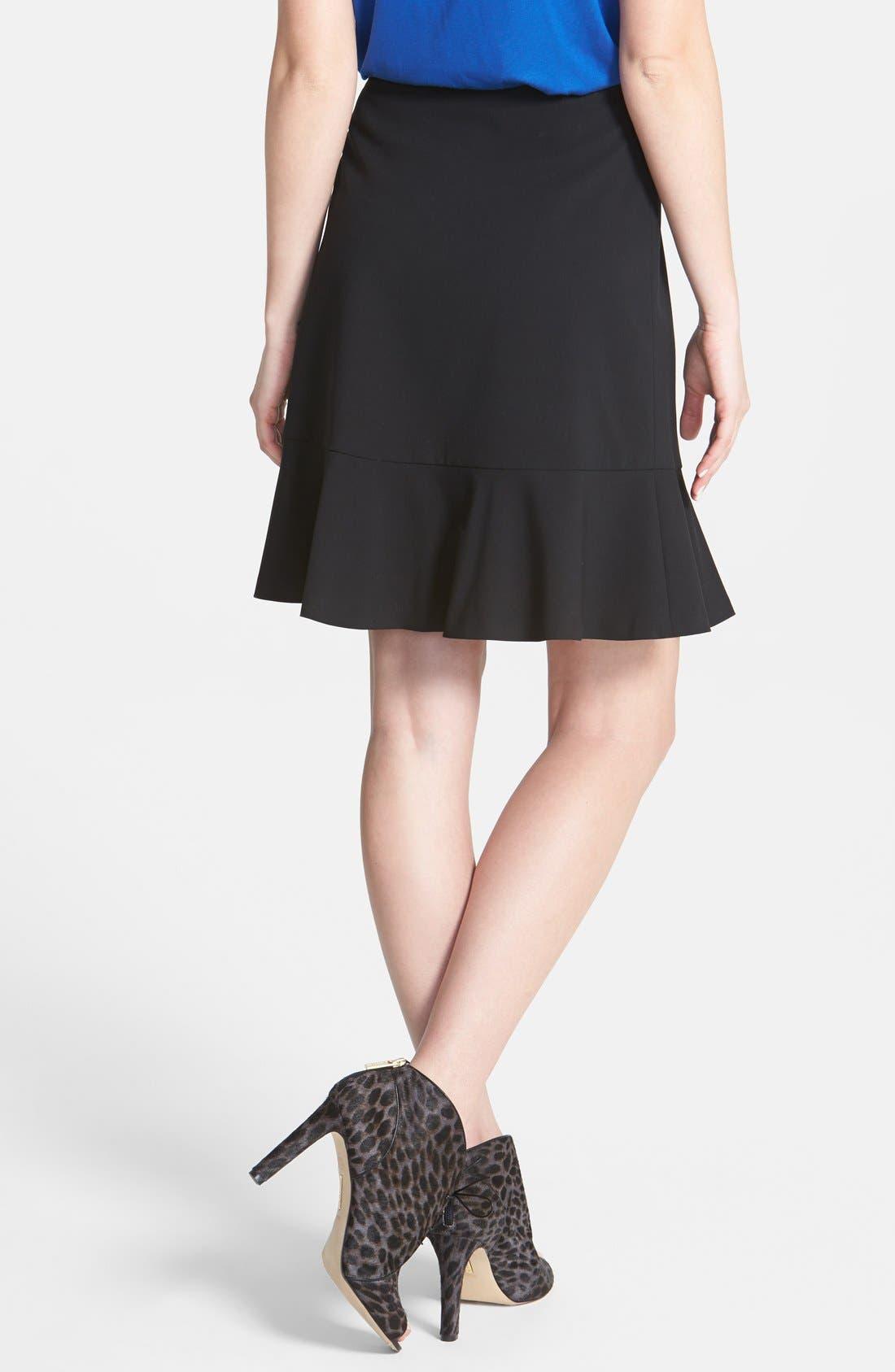 Alternate Image 2  - Vince Camuto Ruffle Hem Skirt (Regular & Petite)