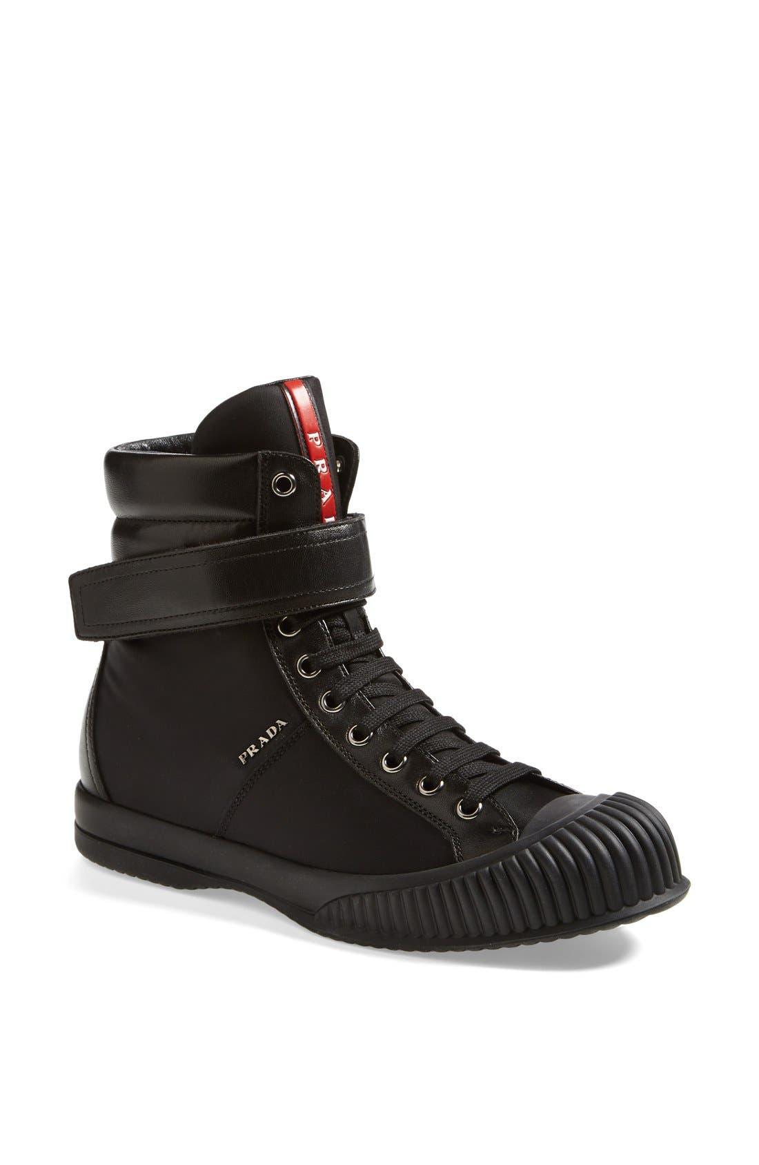 Alternate Image 1 Selected - Prada Sport High Top Sneaker (Women)