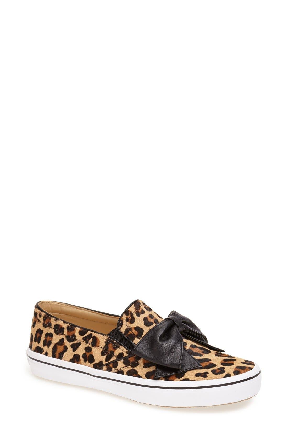 'delise' slip-on sneaker,                             Main thumbnail 1, color,                             Camel\ Black