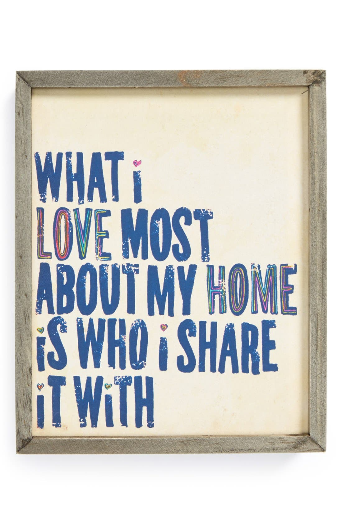 Main Image - Natural Life 'What I Love Most - Street Market' Stretched Canvas Wall Art