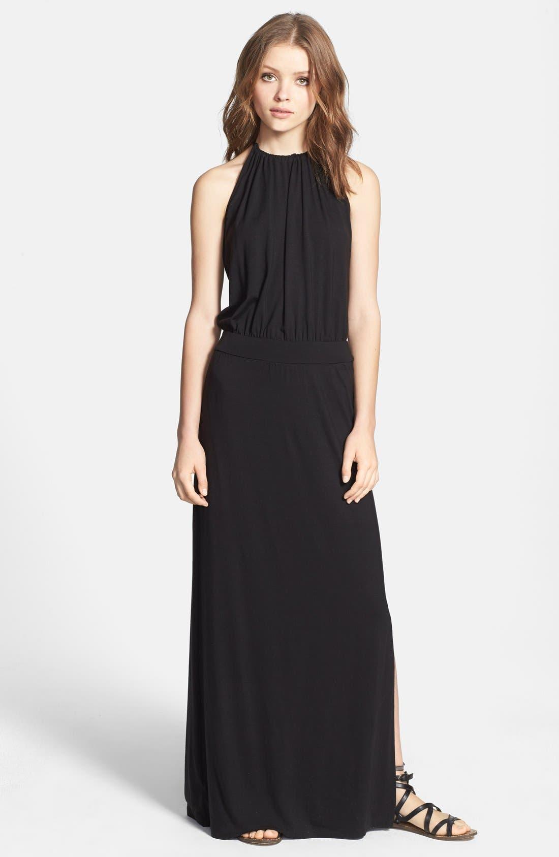 Main Image - Splendid Cutaway Tie Back Maxi Dress