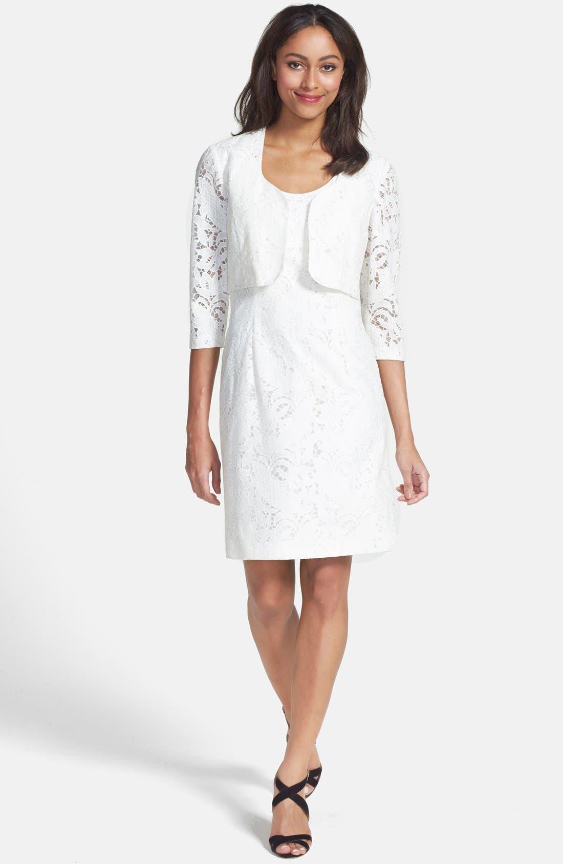 Alternate Image 4  - Tahari Lace Dress & Jacket